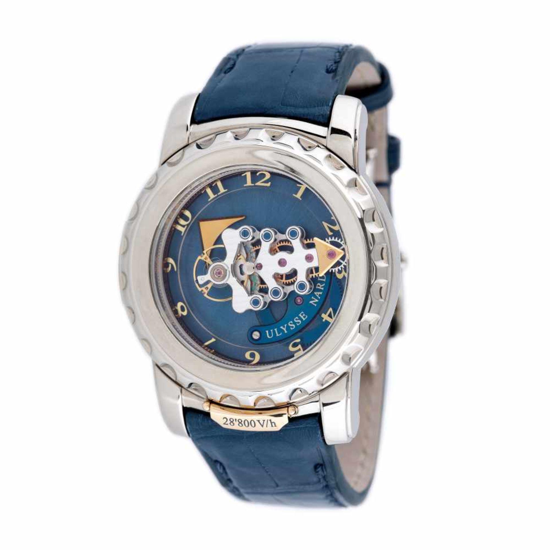 Ulysse Nardin Freak Vision Tourbillion wristwatch, white gold, men, provenance documents and origina