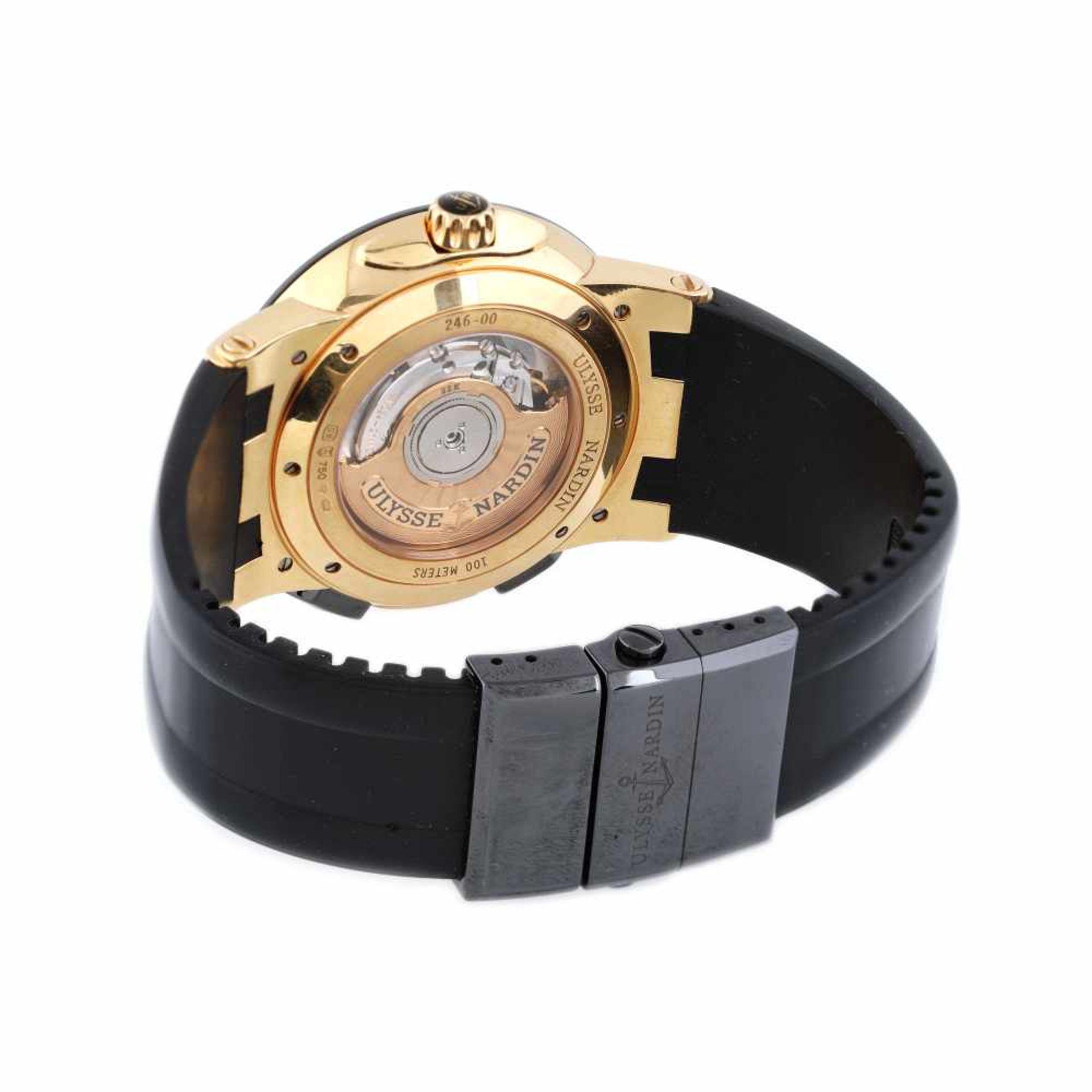 Ulysse Nardin Executive Dual Time wristwatch, rose gold, men, provenance documents - Bild 3 aus 4