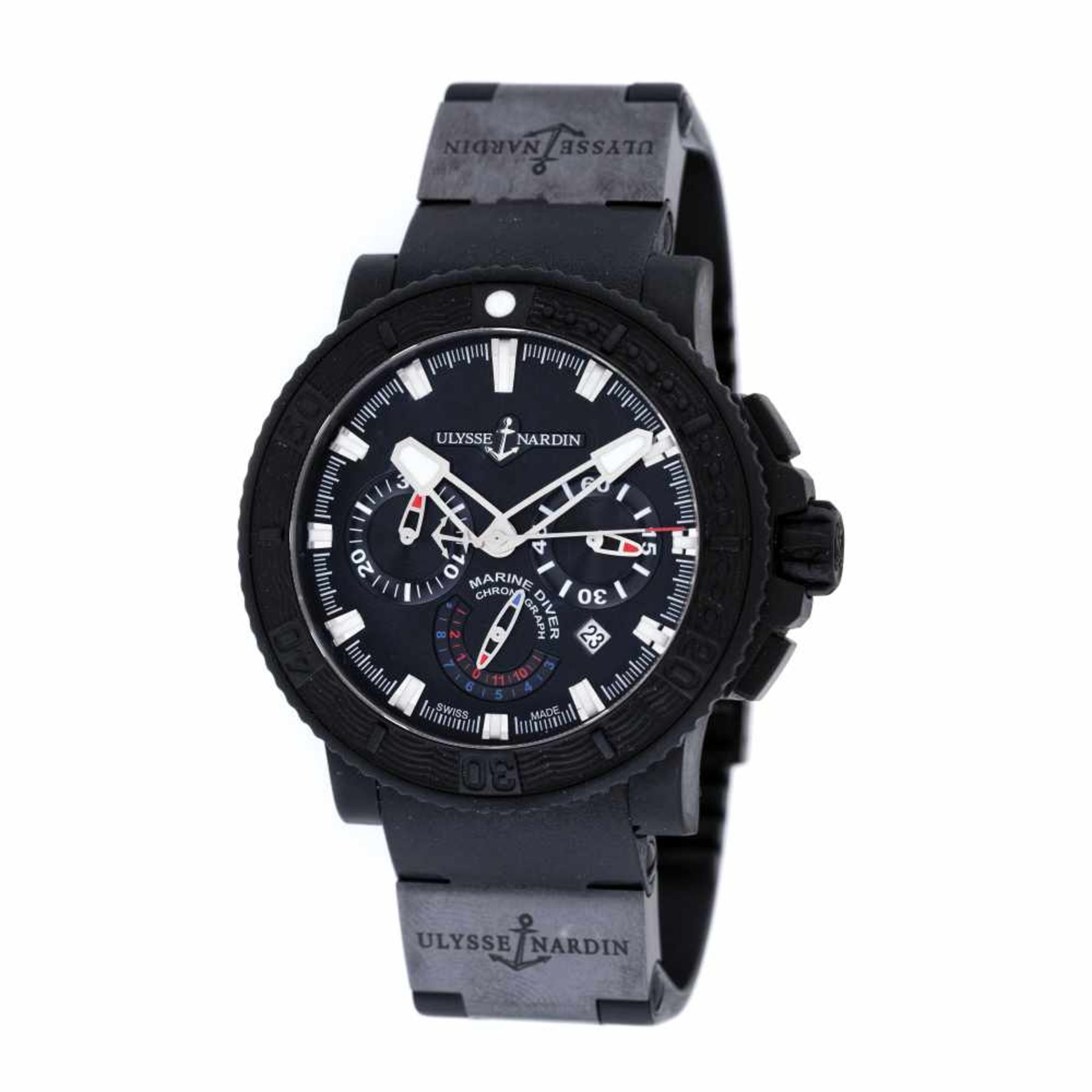 Ulysse Nardin Diver Marine Black Sea wristwatch, men, provenance documents