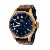 IWC Big Pilot's Watch Heritage Bronze wristwatch, men, provenance documents, instruction manual, t