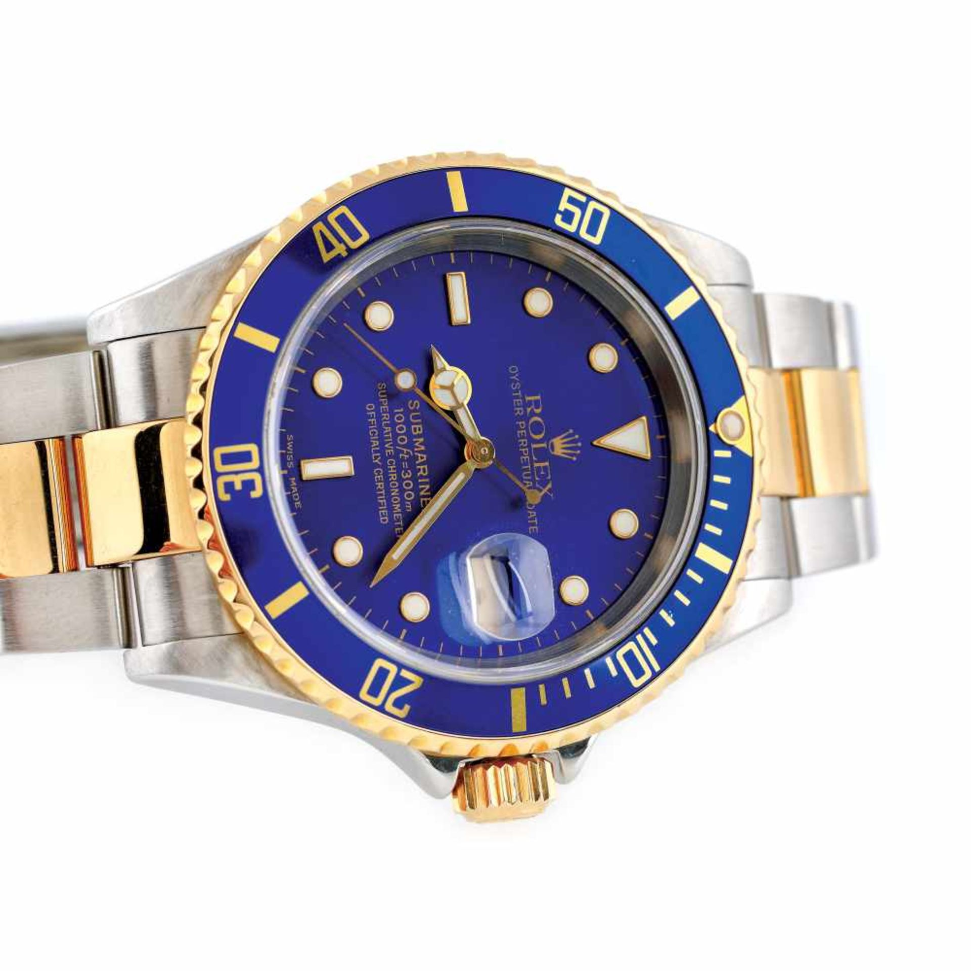 Rolex Submariner wristwatch, gold and steel, men - Bild 3 aus 3