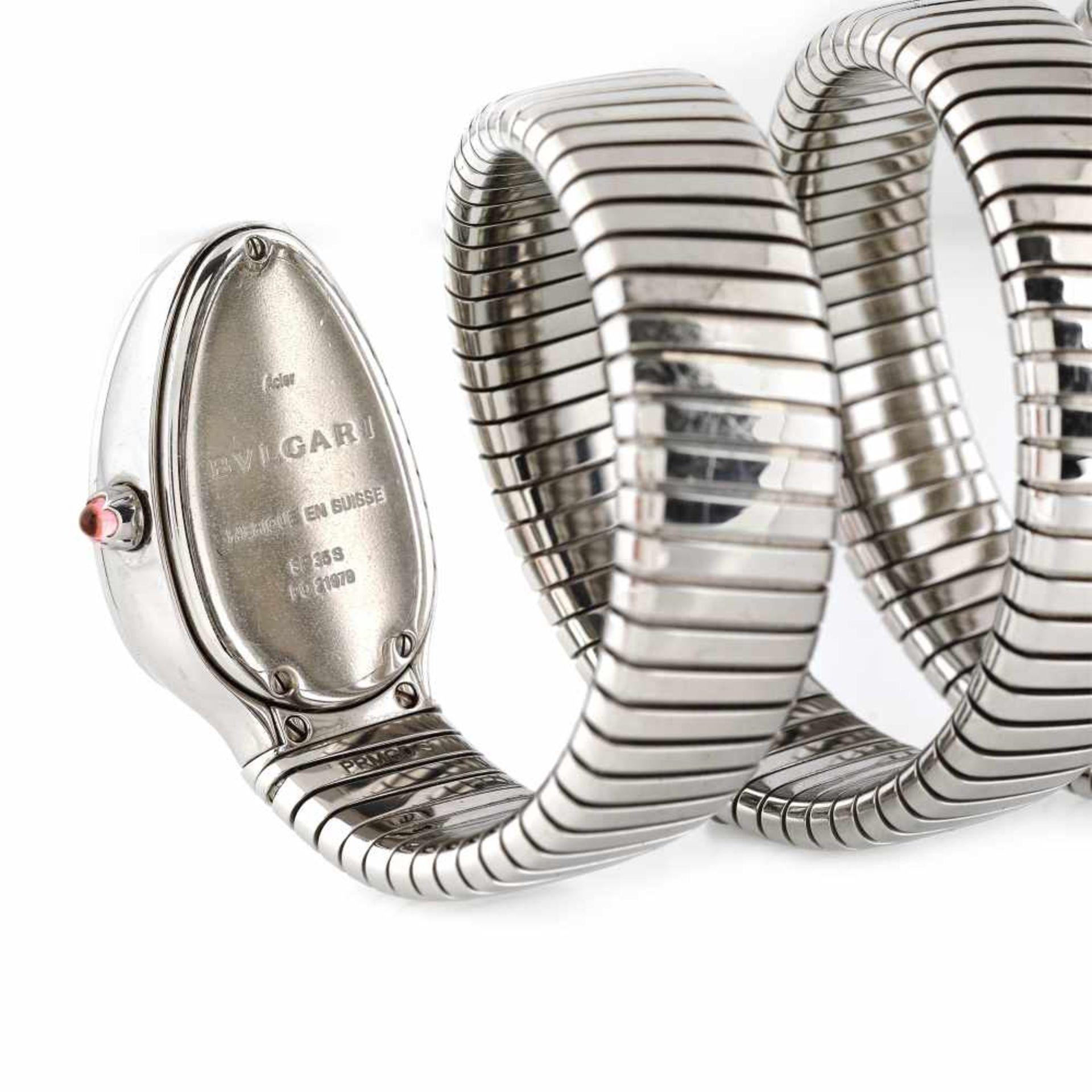 Bvlgari Serpenti Tubogas bracelet watch, women, decorated with diamonds, provenance documents - Bild 5 aus 5