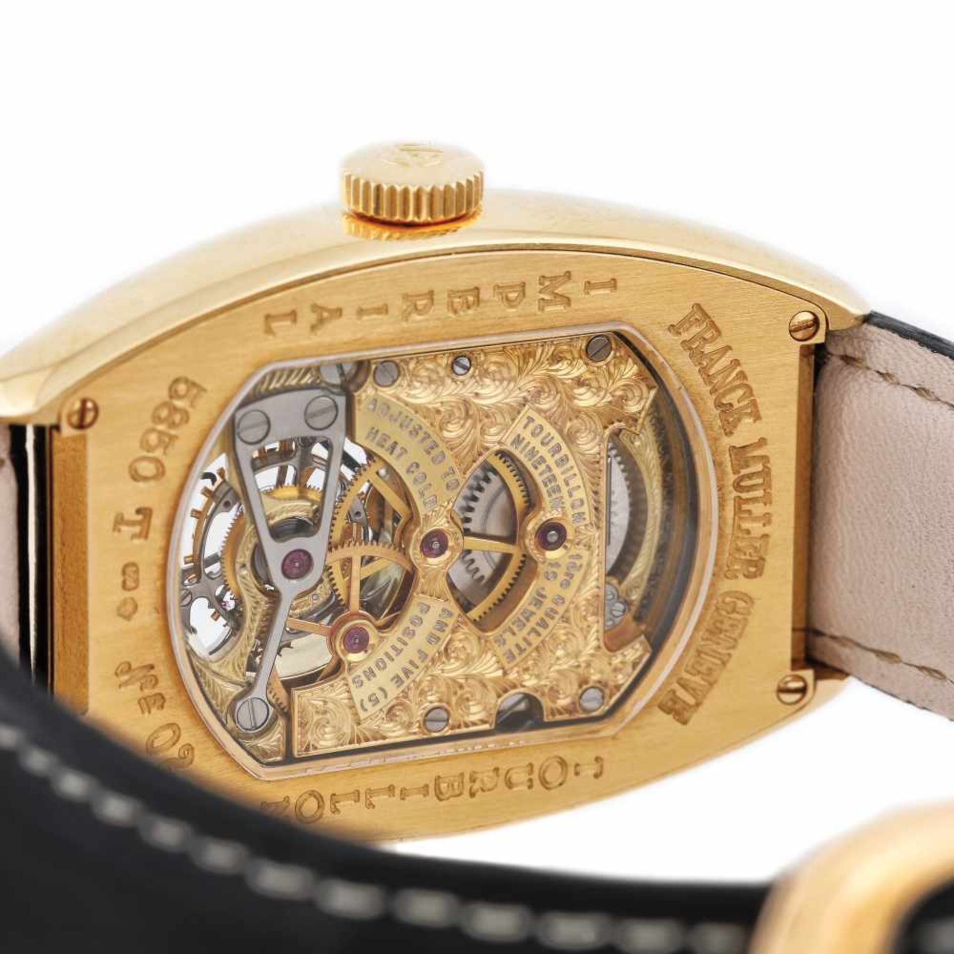 Franck Muller Tourbillion wristwatch, gold, men - Bild 4 aus 4