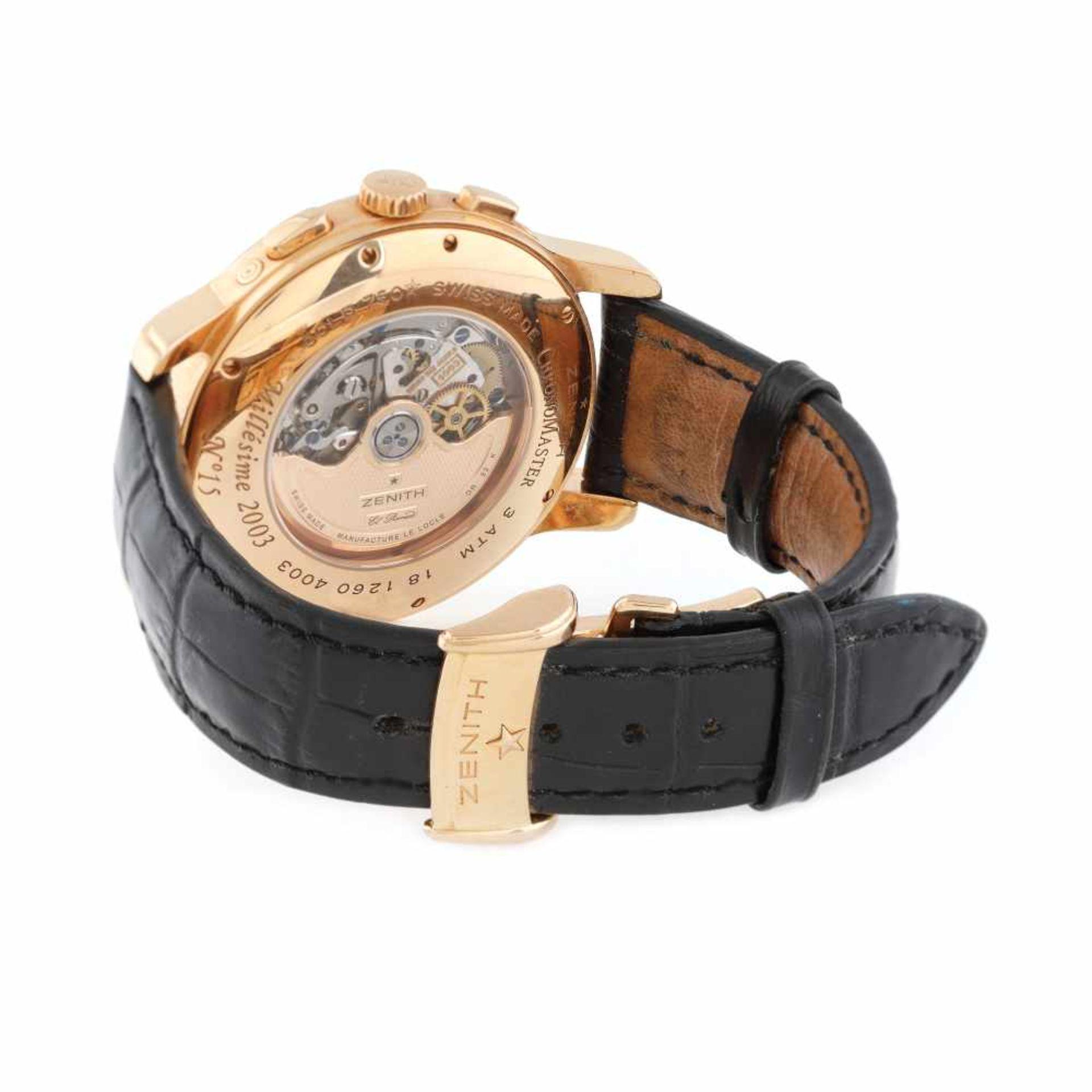 Zenith Chronomaster Millésime El Primero wristwatch, rose gold, men - Bild 3 aus 4