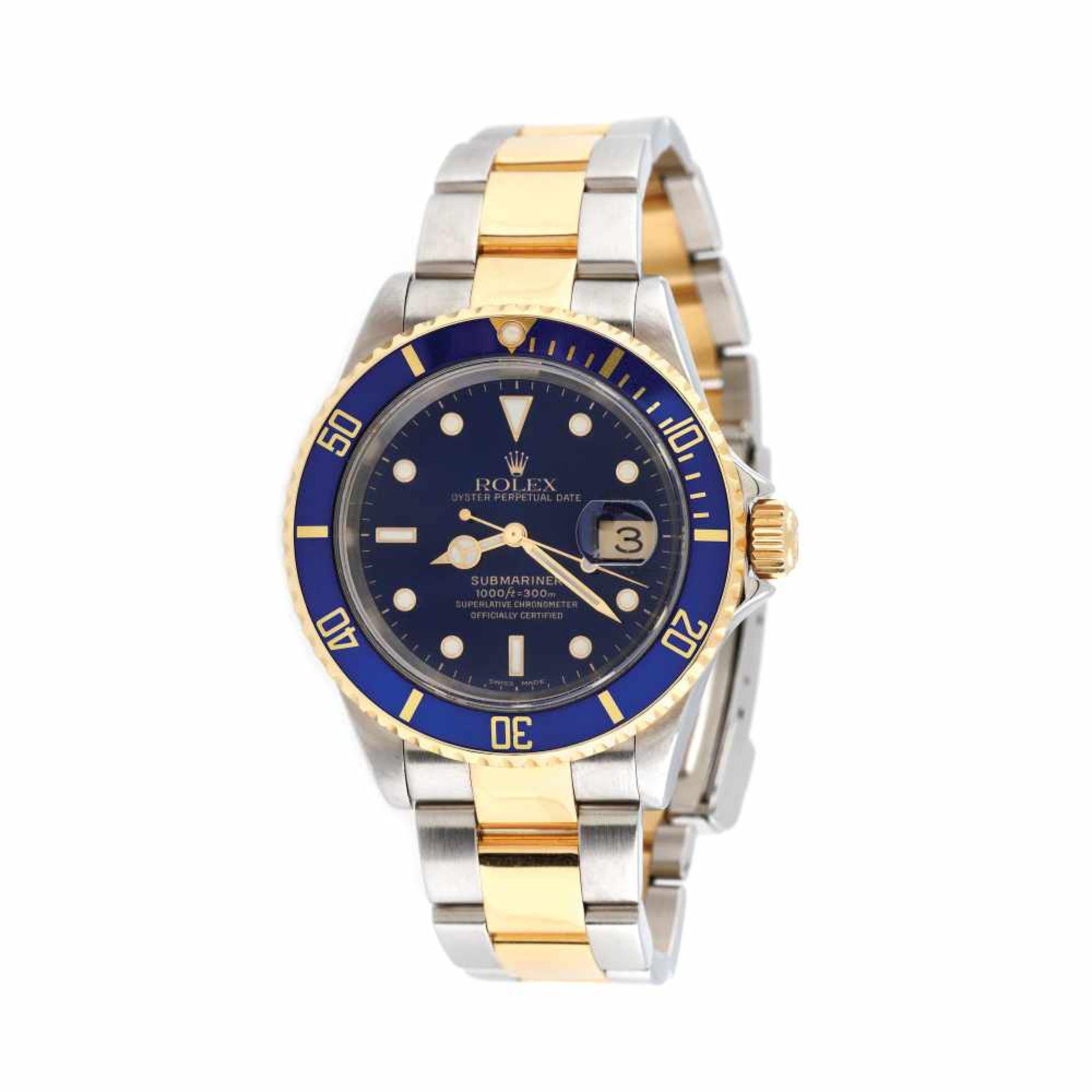 Rolex Submariner wristwatch, gold and steel, men