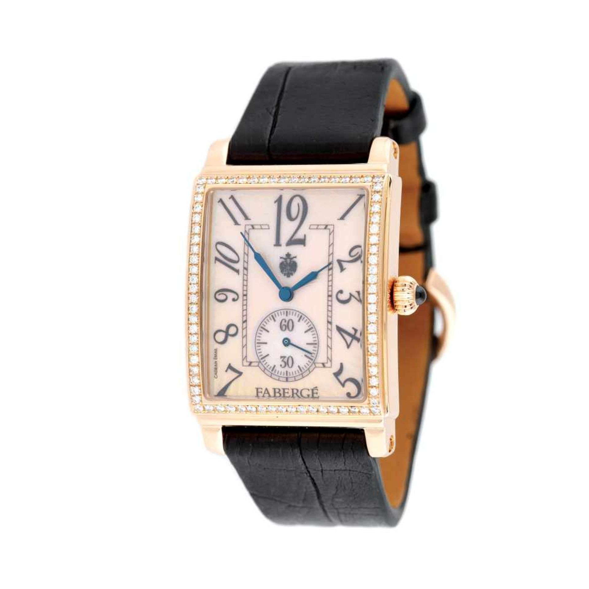 Fabergé Nr: 6 wristwatch, rose gold, diamond-paved bezel, women