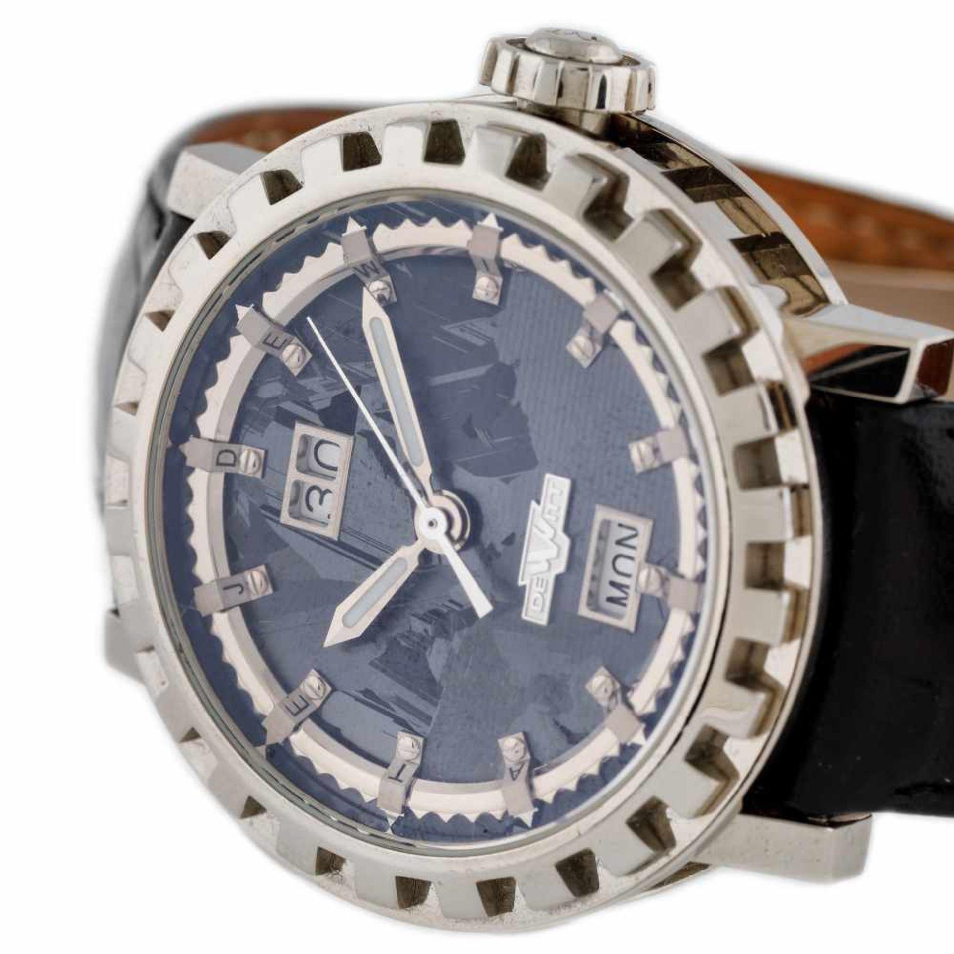 DeWitt Academia Grande Date Silicium wristwatch, white gold, men - Bild 2 aus 3
