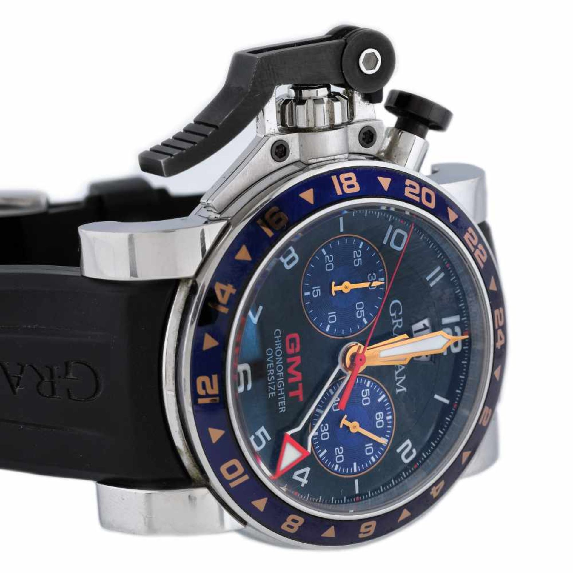 Graham Chronofighter wristwatch, men, provenance documents - Bild 2 aus 3