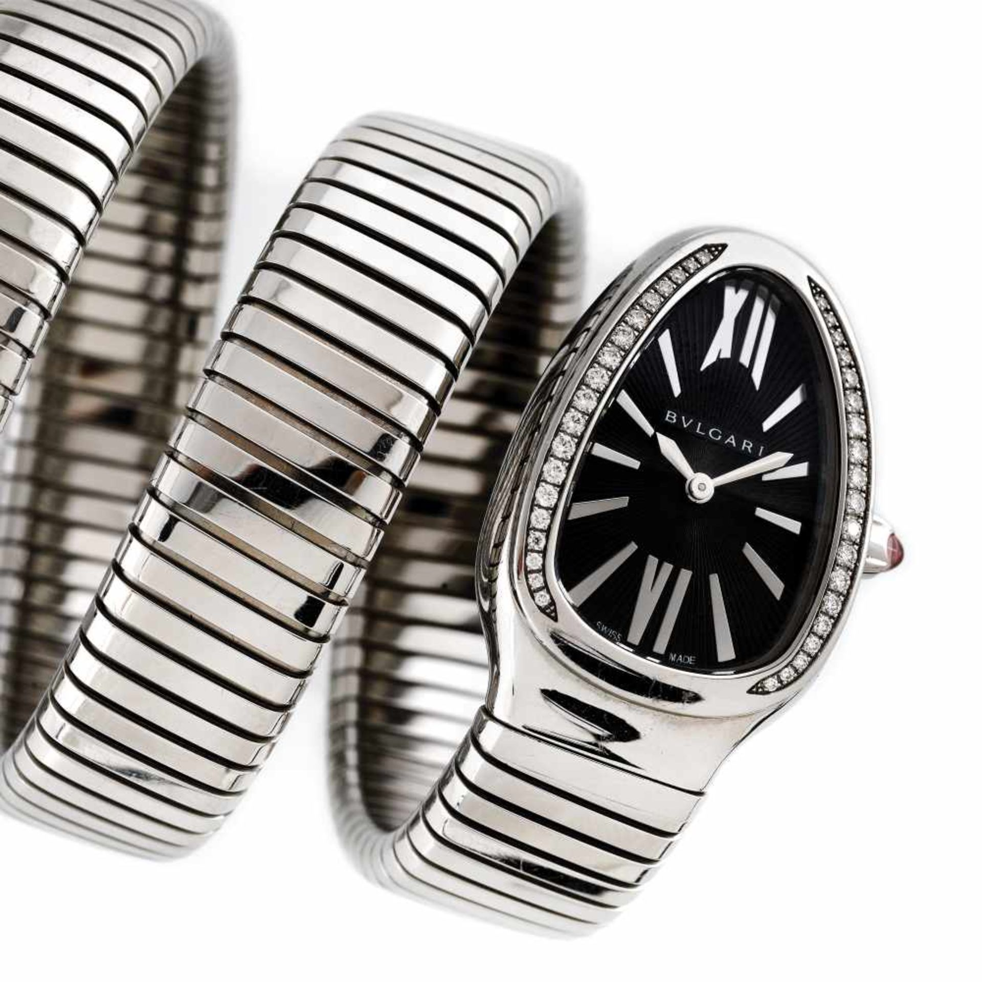 Bvlgari Serpenti Tubogas bracelet watch, women, decorated with diamonds, provenance documents - Bild 2 aus 5