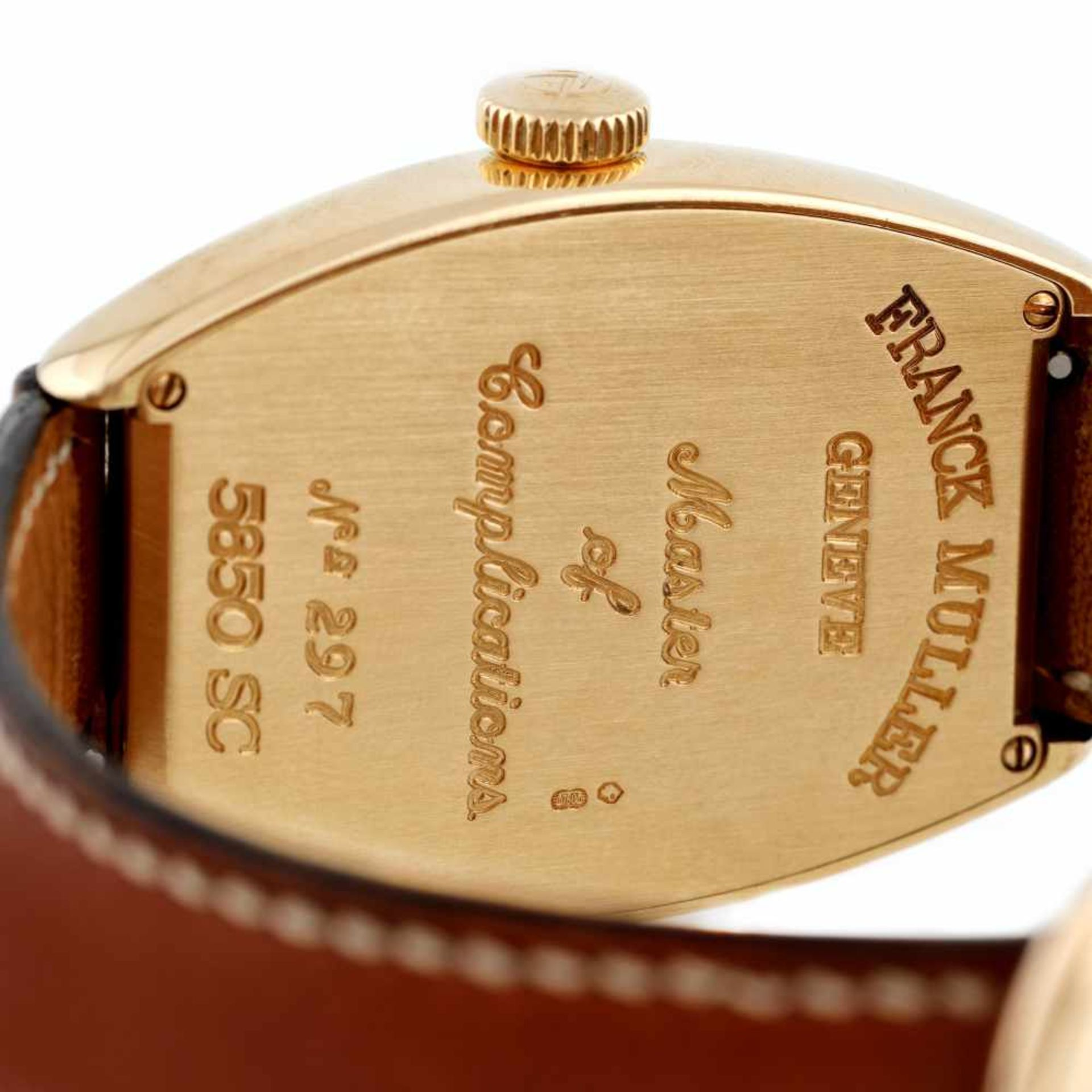 Franck Muller Casablanca wristwatch, gold, men, provenance documents - Bild 3 aus 4