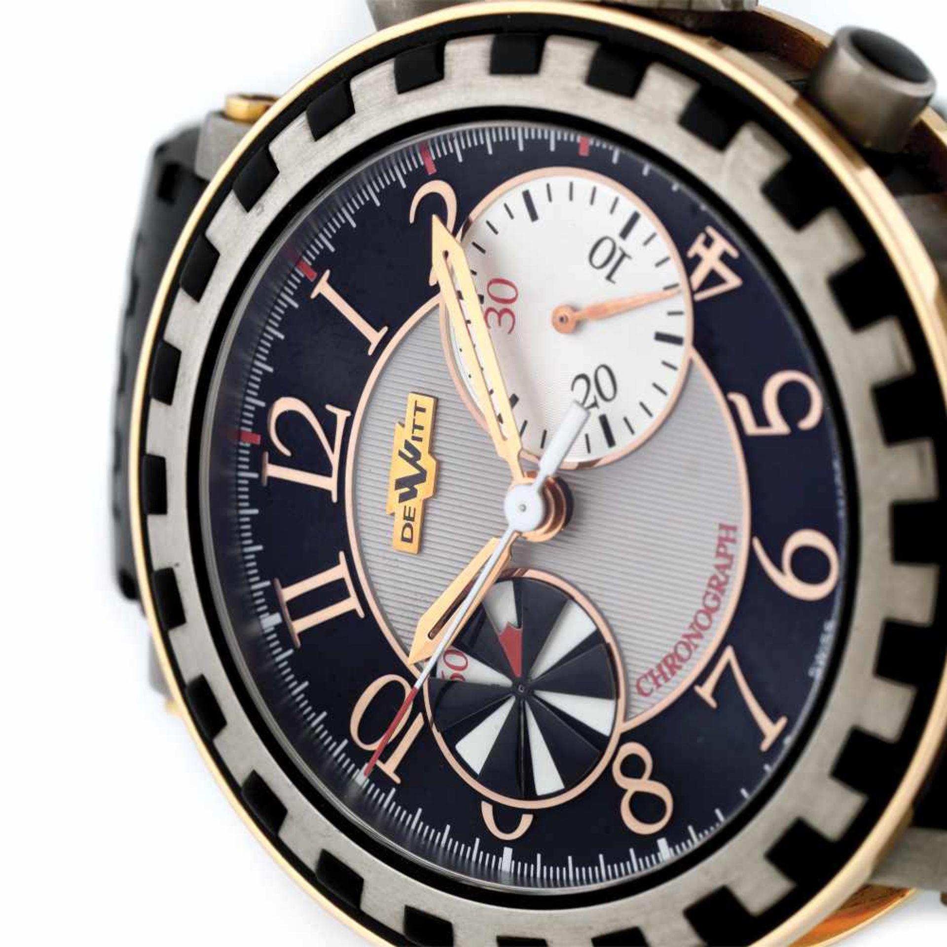 DeWitt Academia Chronographe wristwatch, titan and rose gold, men, limited edition 061/999 - Bild 3 aus 4