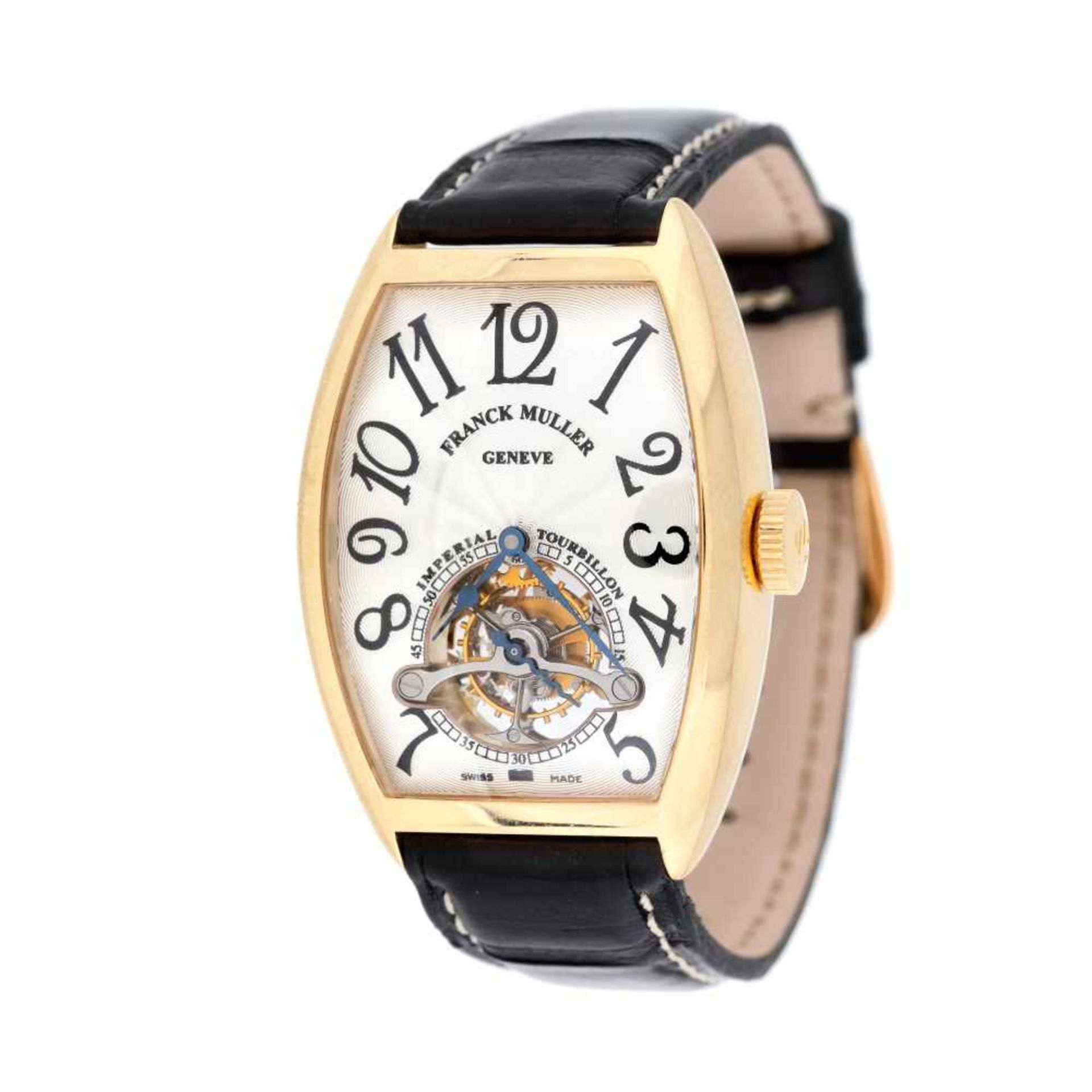 Franck Muller Tourbillion wristwatch, gold, men