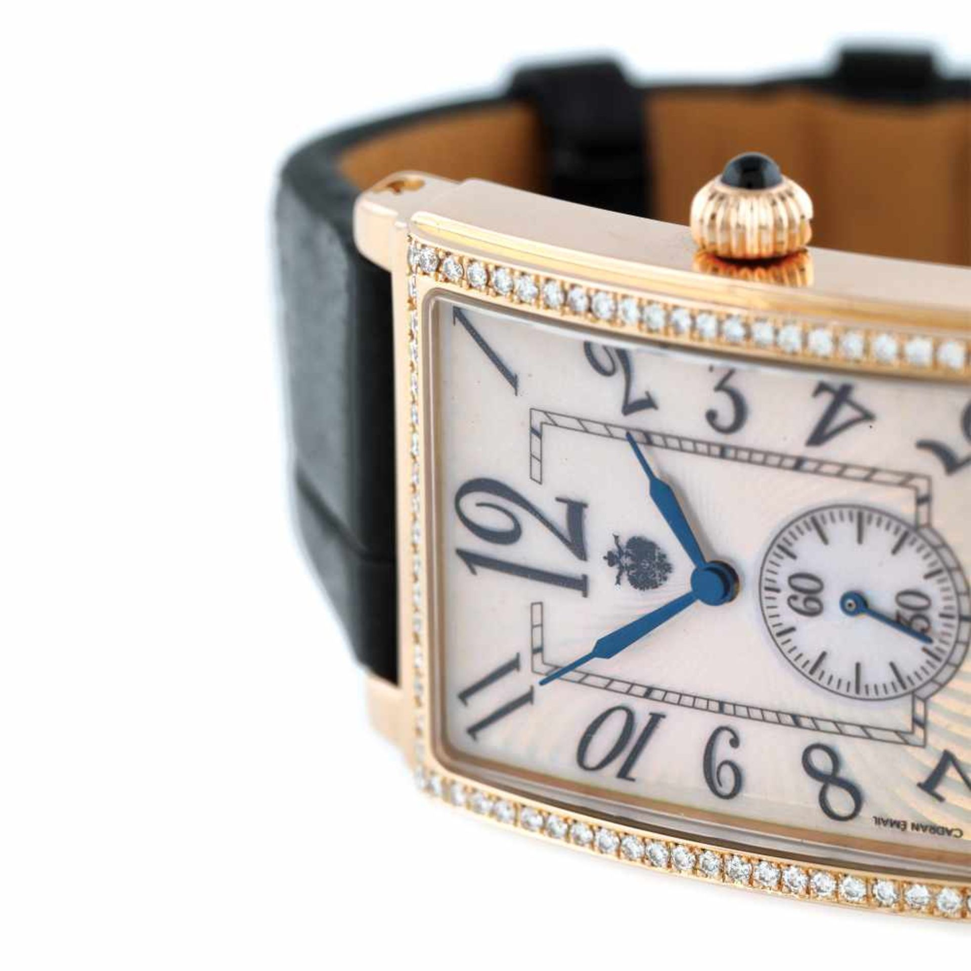 Fabergé Nr: 6 wristwatch, rose gold, diamond-paved bezel, women - Bild 2 aus 3