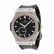 Hublot Classic Fusion wristwatch, titanium, men