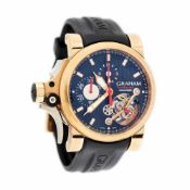 Graham Tourbillograph Automatic wristwatch, gold, men, limited edition 20/50, provenance documents a