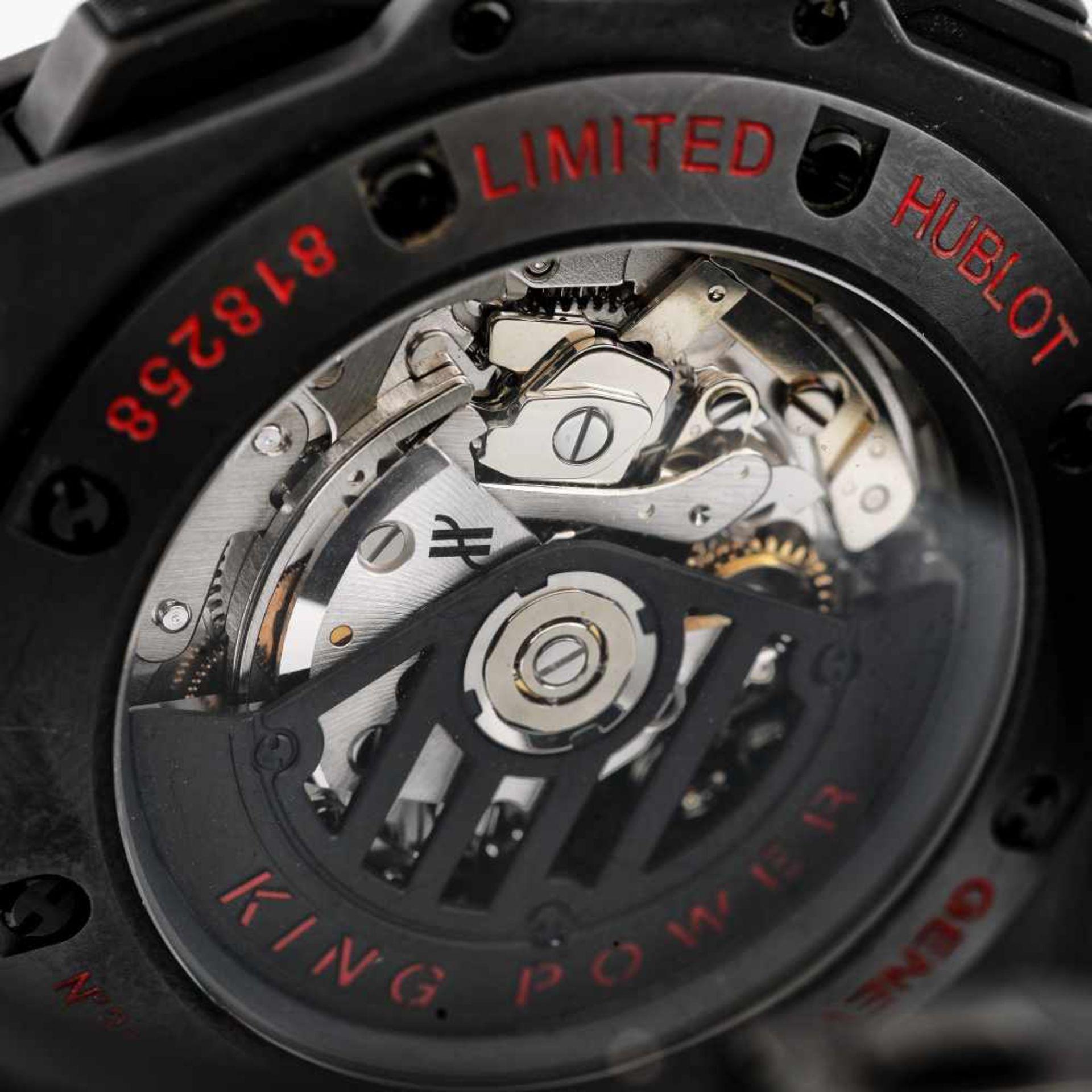 Hublot King Power wristwatch, ceramic, men, limited edition 301/500, provenance documents - Bild 4 aus 4