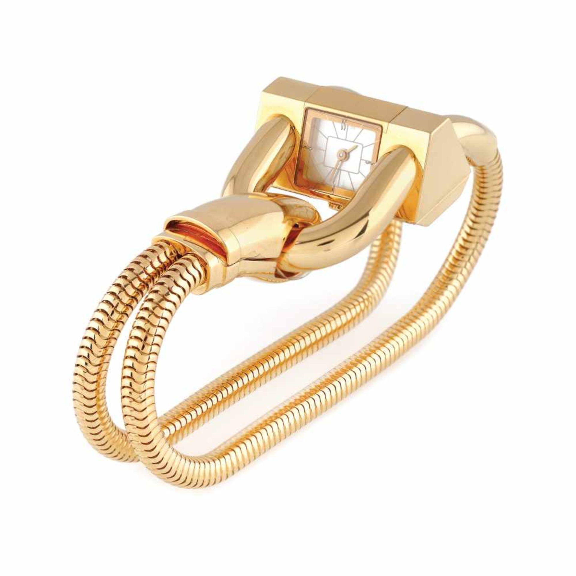 Van Cleef & Arpels Cadenas bracelet watch, gold, women