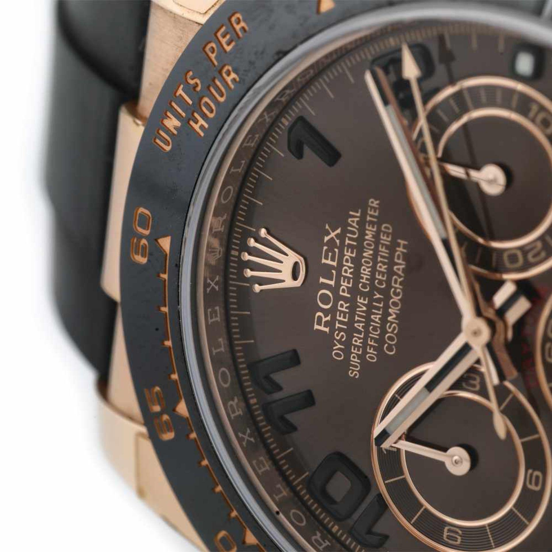 Rolex Daytona wristwatch, rose gold, unisex, original box - Bild 3 aus 3