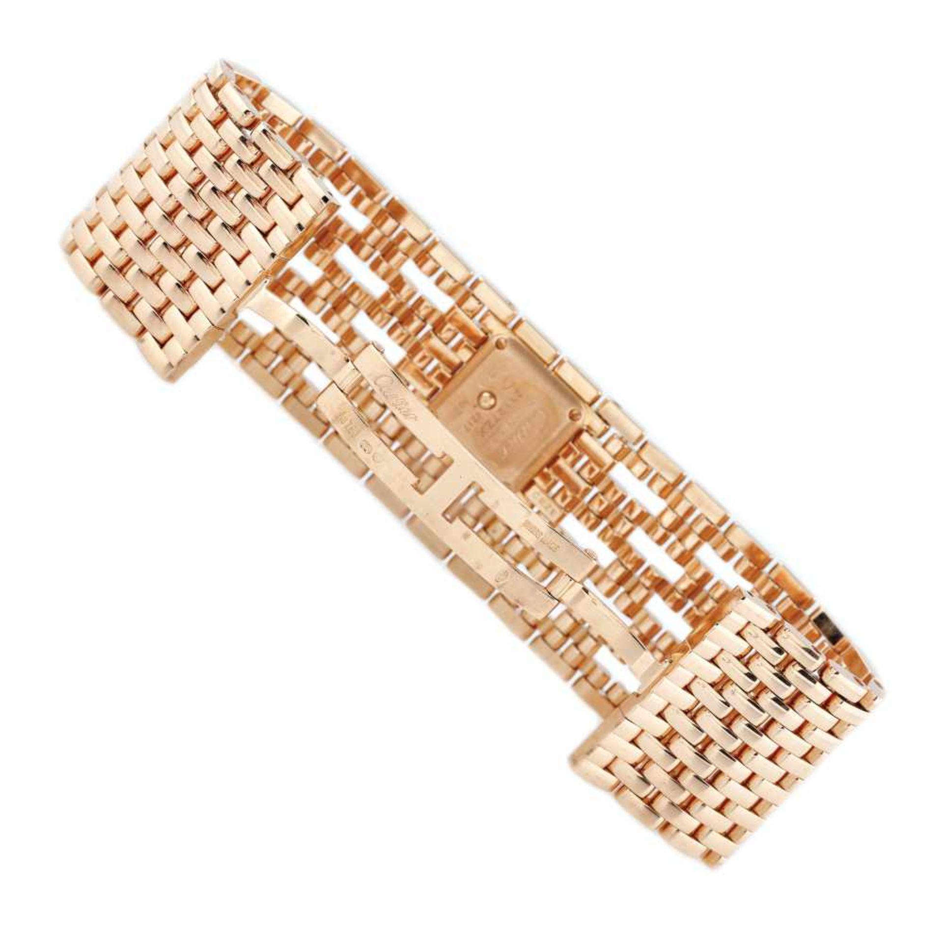 Panthère de Cartier Manchette bracelet watch, rare, gold, women, decorated with diamonds, provenanc - Bild 3 aus 6