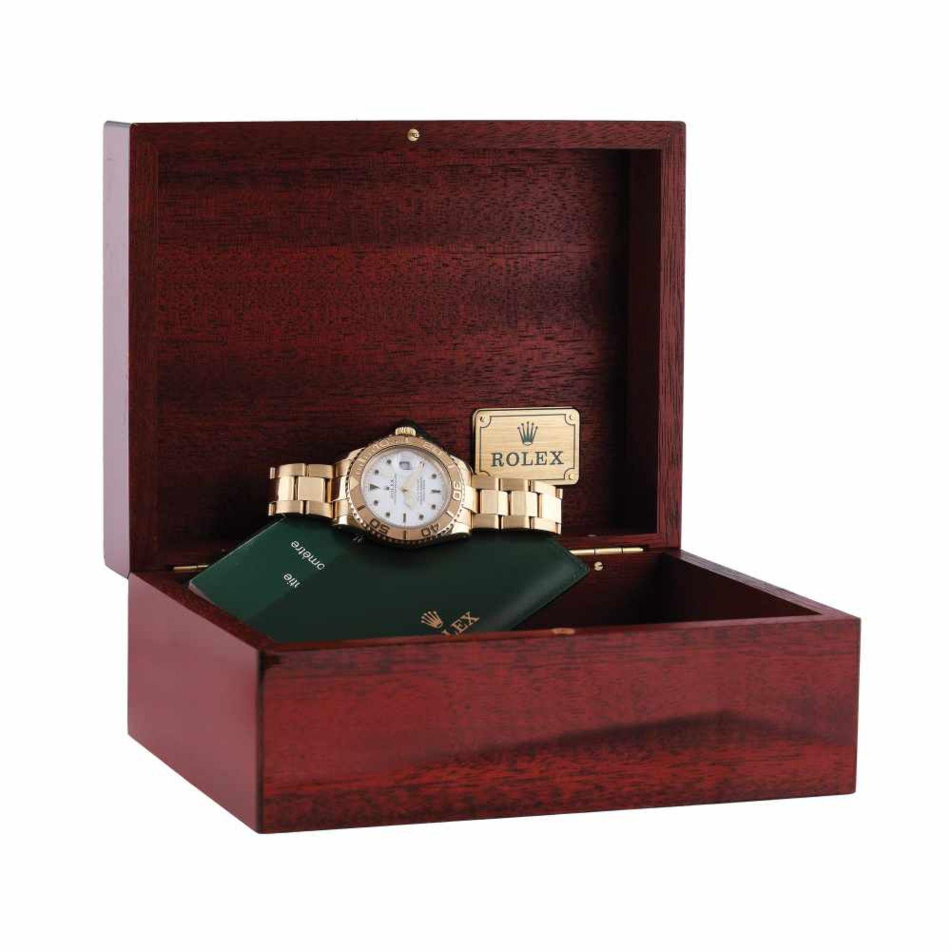 Rolex Yacht Master wristwatch, gold, men, instruction manual and original box - Bild 2 aus 6