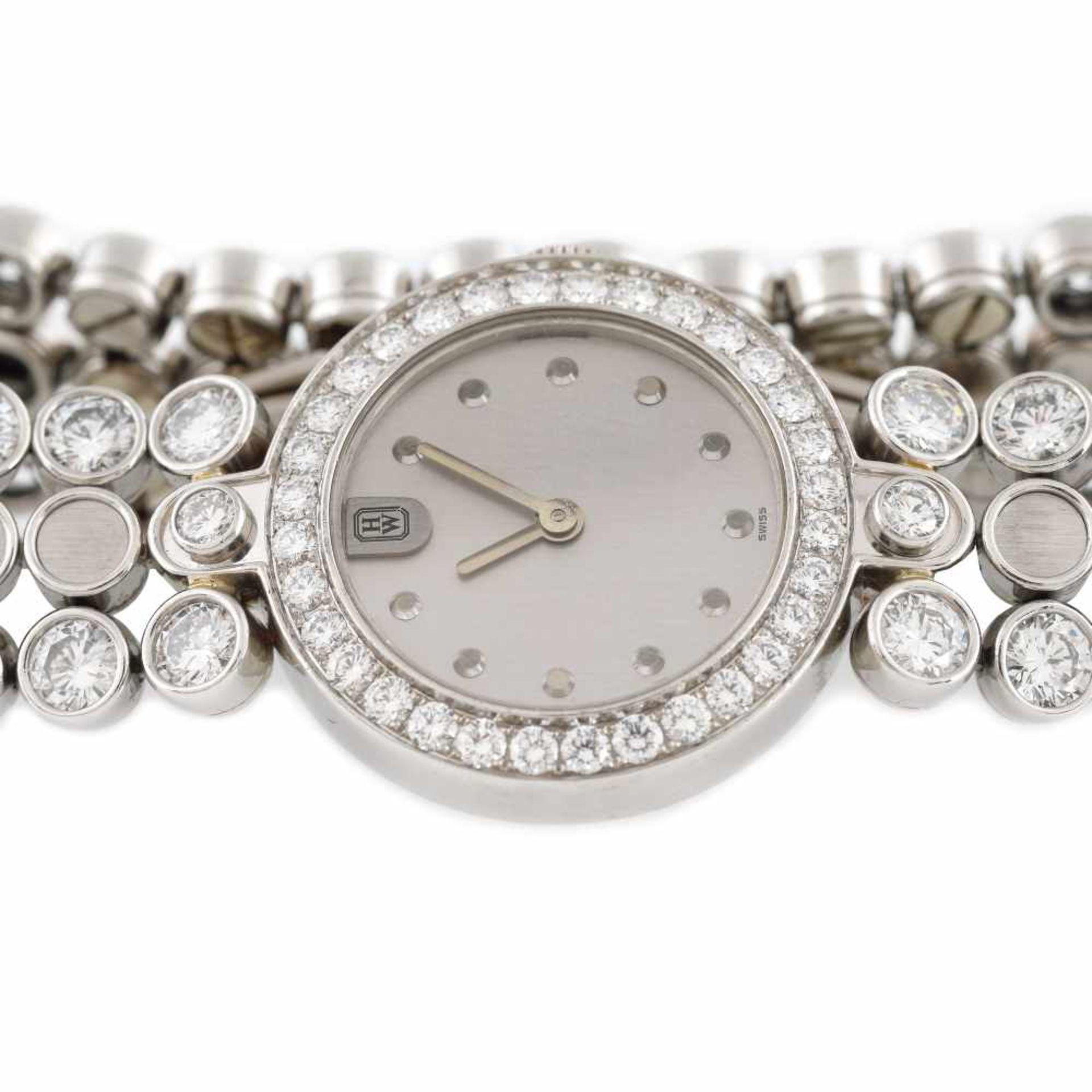 Harry Winston Premier Diamond Timepiece bracelet watch, platinum, women, decorated with diamonds, pr - Bild 4 aus 4