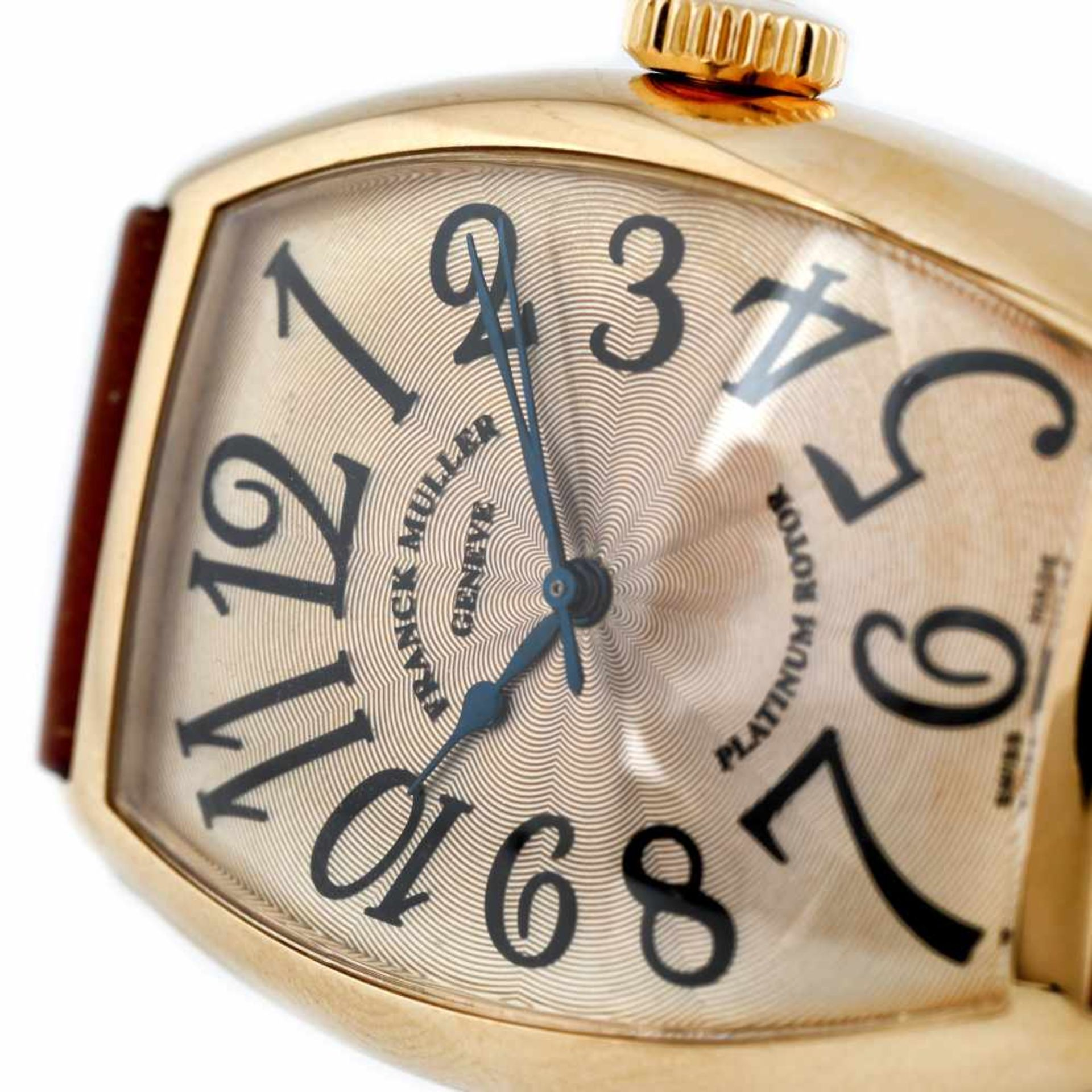 Franck Muller Casablanca wristwatch, gold, men, provenance documents - Bild 4 aus 4