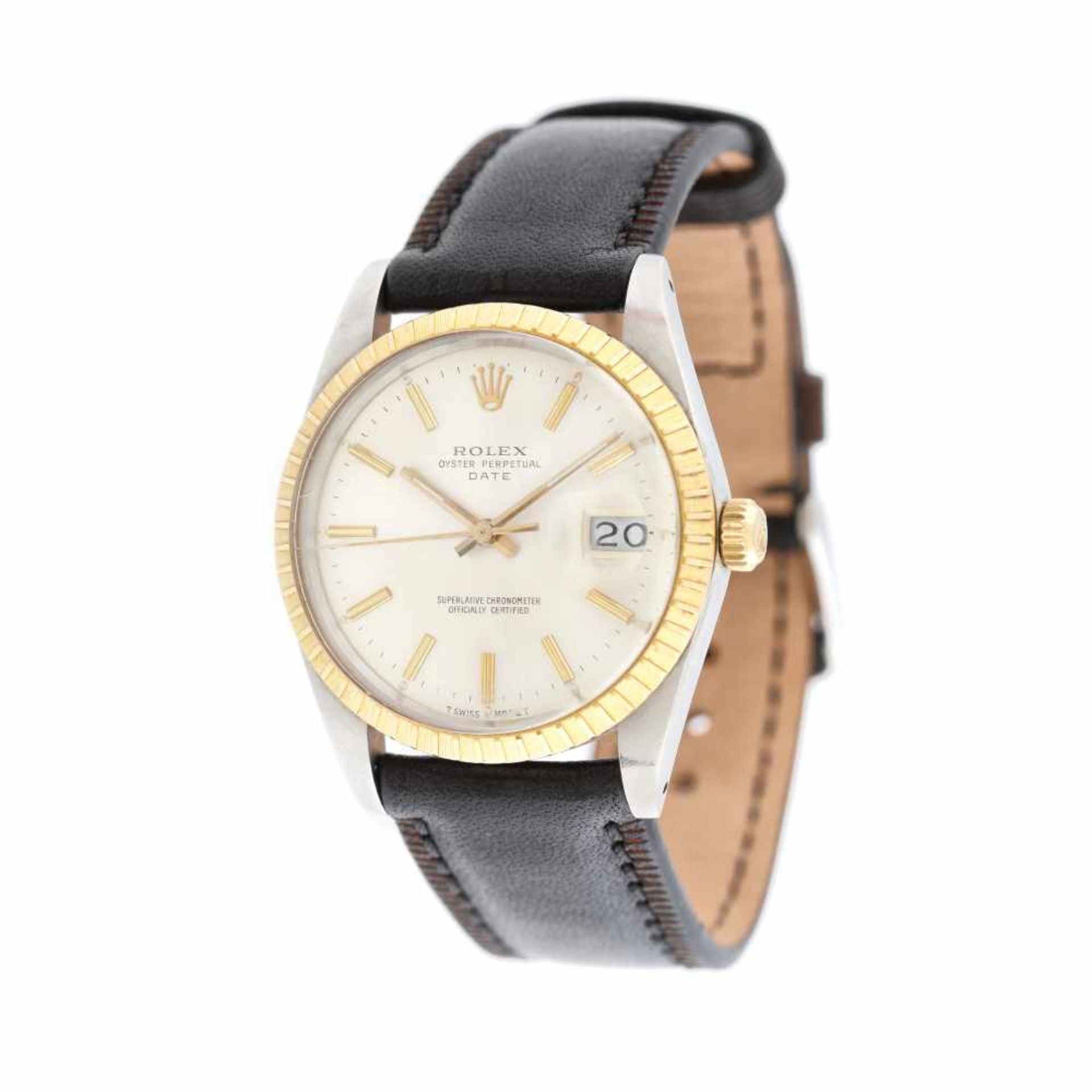 Rolex Oyster Perpetual Date wristwatch, gold and steel, men