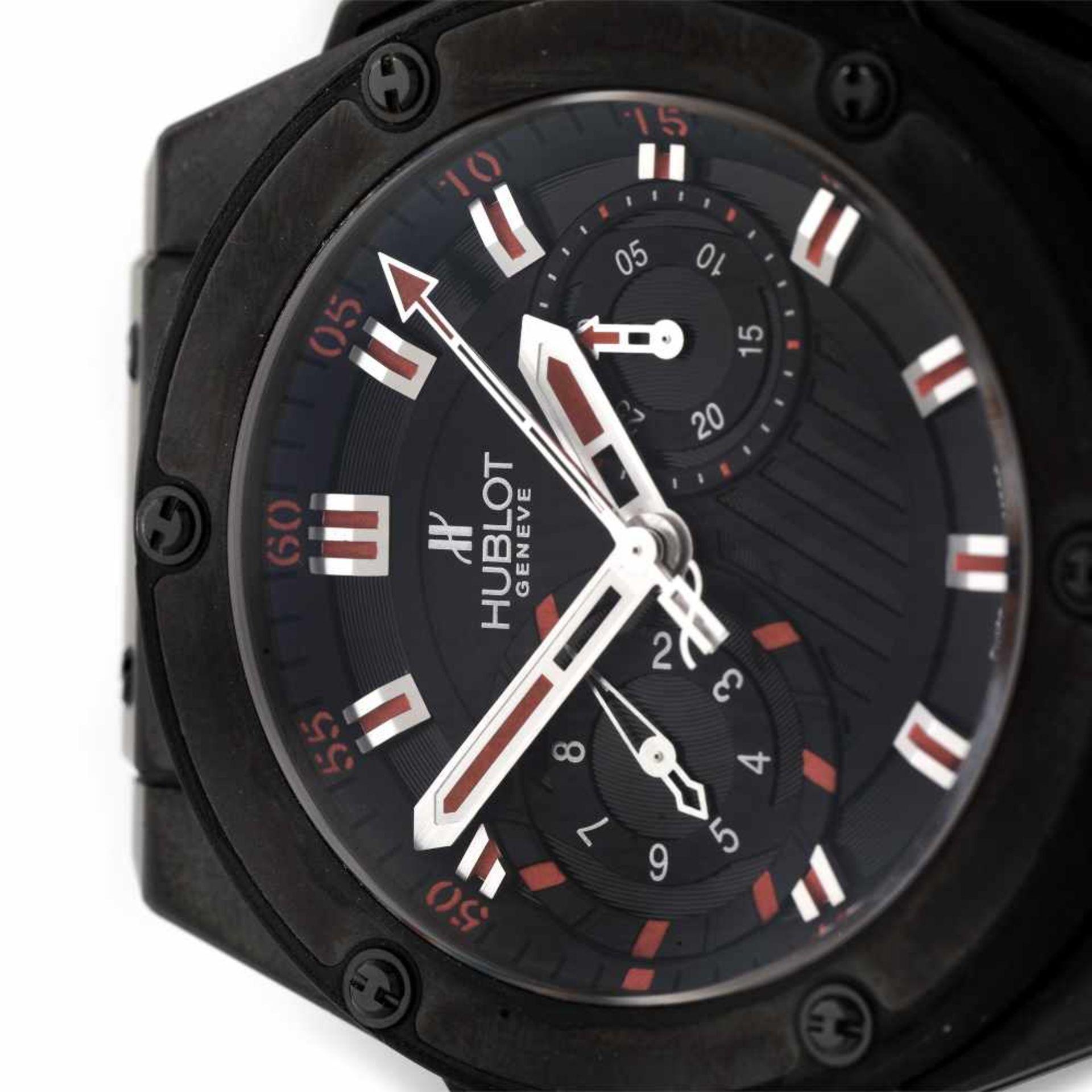 Hublot King Power wristwatch, ceramic, men, limited edition 301/500, provenance documents - Bild 2 aus 4