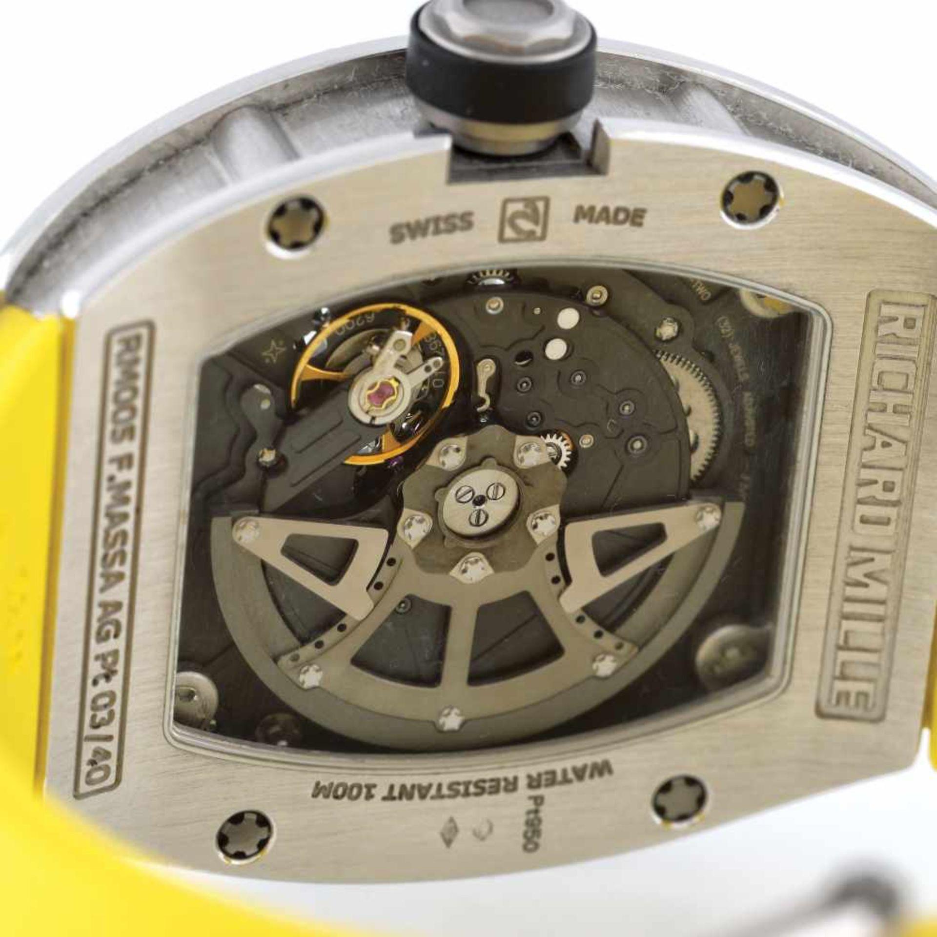 Richard Mille RM005 Felipe Massa AG TI wristwatch, platinum, men, limited edition 3/40 - Bild 4 aus 4