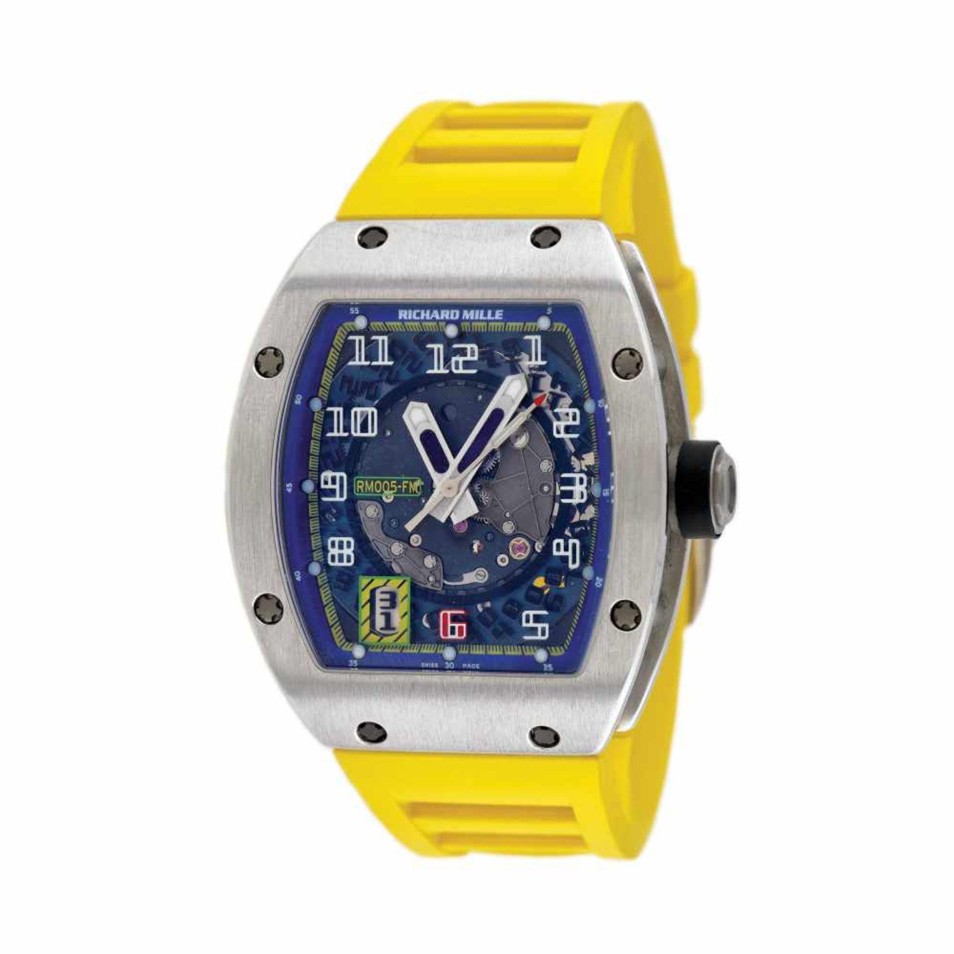 Richard Mille RM005 Felipe Massa AG TI wristwatch, platinum, men, limited edition 3/40