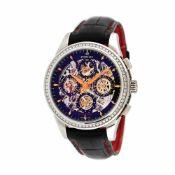 Perrelet Skeleton Chronograph wristwatch, unisex, decorated with diamonds