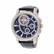 Zenith Academy Tourbillon El Primero wristwatch, white gold, men, limited edition 9/50, provenance d