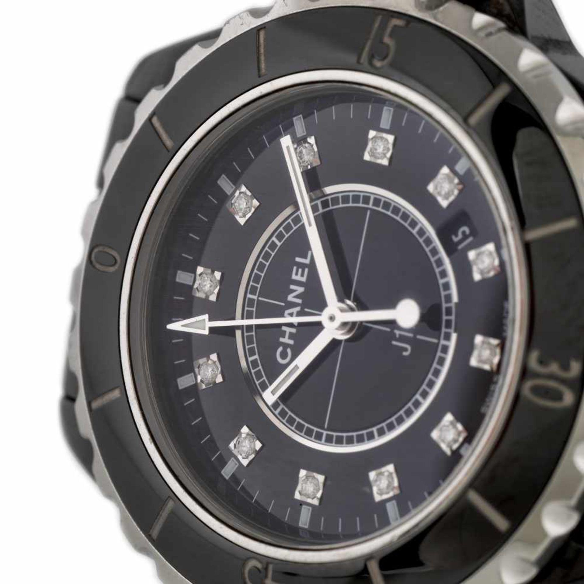 Chanel bracelet watch, women, decorated with diamonds - Bild 2 aus 3