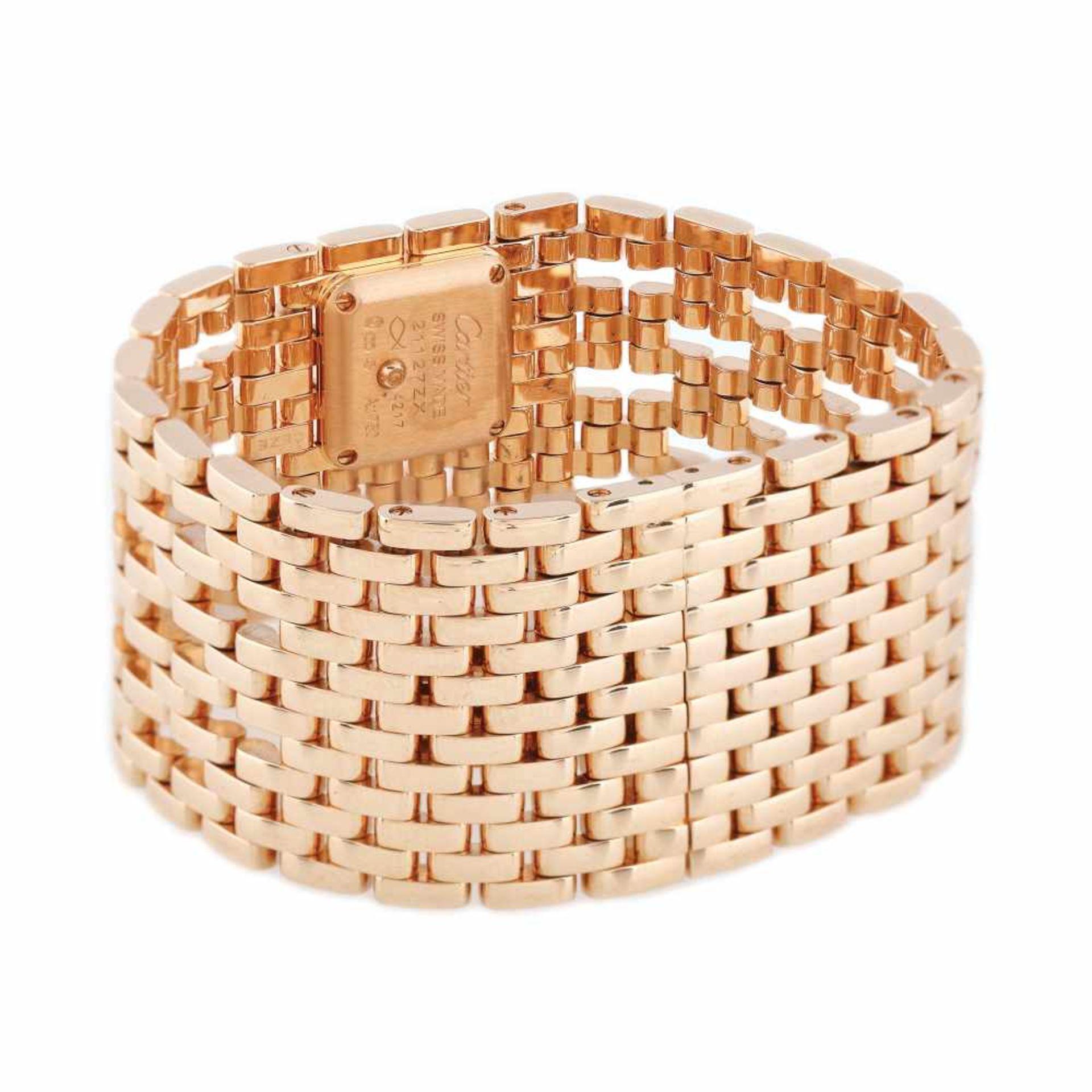 Panthère de Cartier Manchette bracelet watch, rare, gold, women, decorated with diamonds, provenanc - Bild 5 aus 6