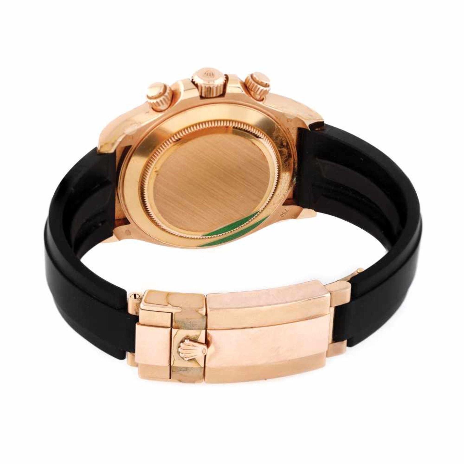 Rolex Daytona wristwatch, rose gold, unisex, original box - Bild 2 aus 3