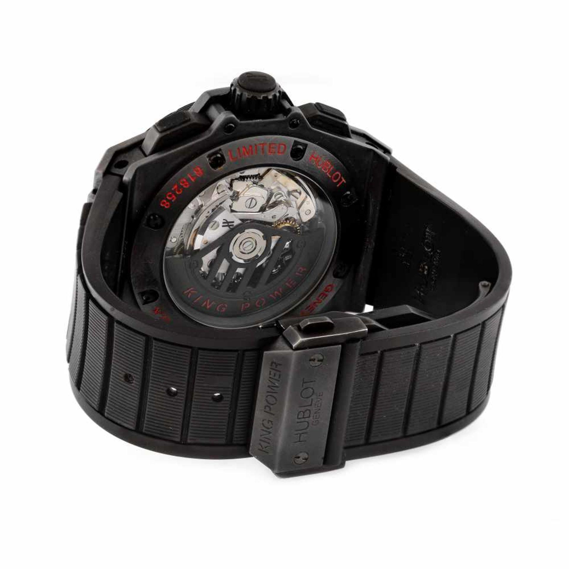 Hublot King Power wristwatch, ceramic, men, limited edition 301/500, provenance documents - Bild 3 aus 4