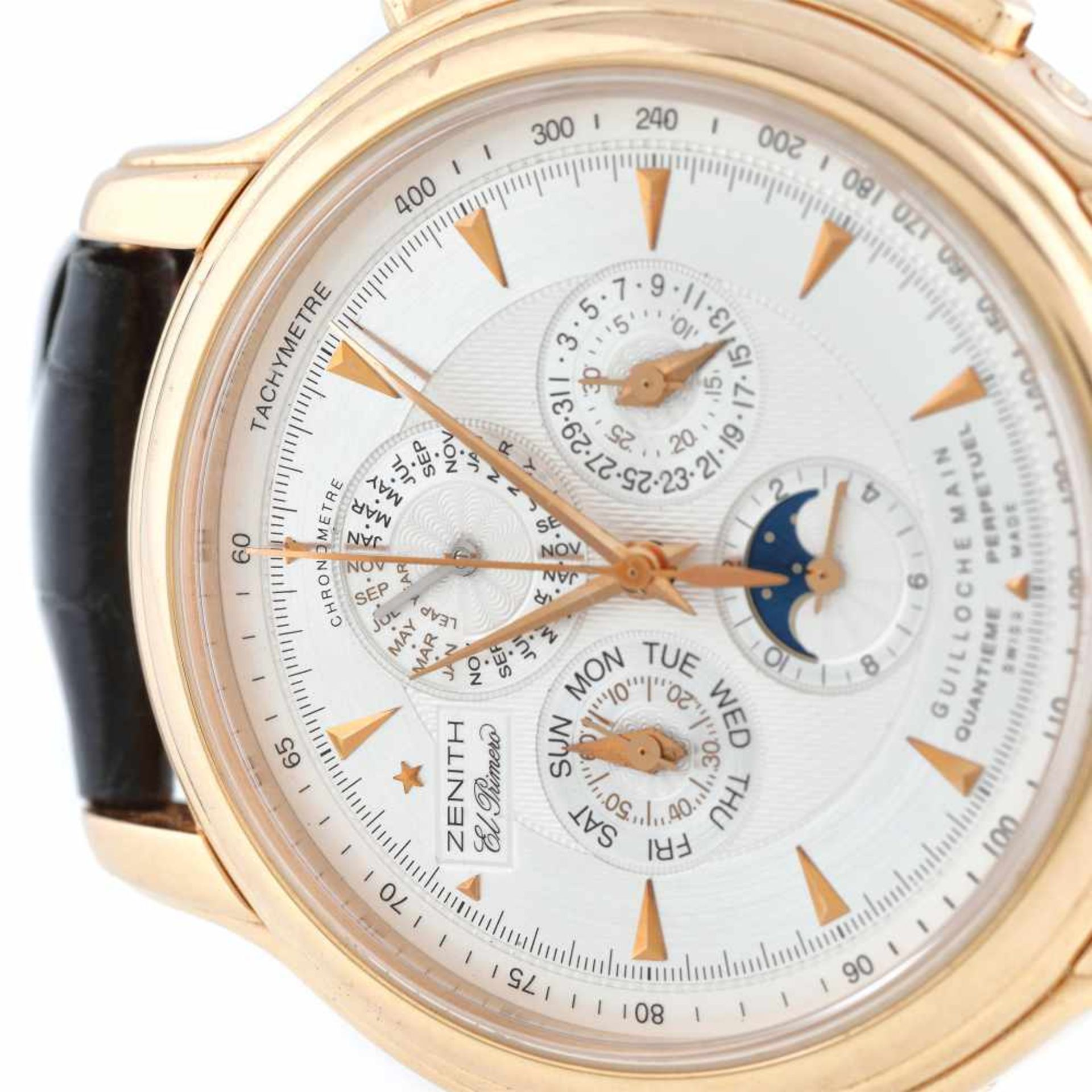 Zenith Chronomaster Millésime El Primero wristwatch, rose gold, men - Bild 2 aus 4
