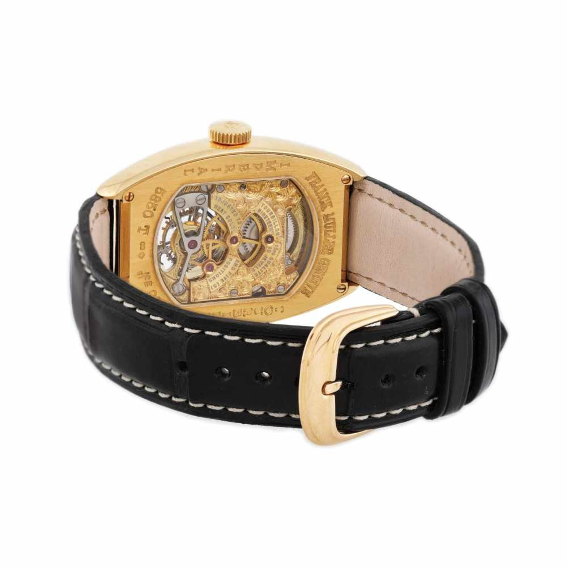 Franck Muller Tourbillion wristwatch, gold, men - Bild 2 aus 4