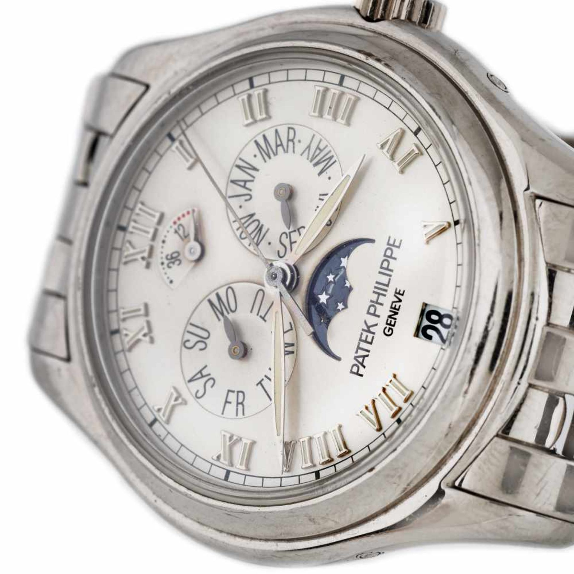 Patek Philippe Annual Calendar wristwatch, white gold, men, extract of the archives - Bild 2 aus 3