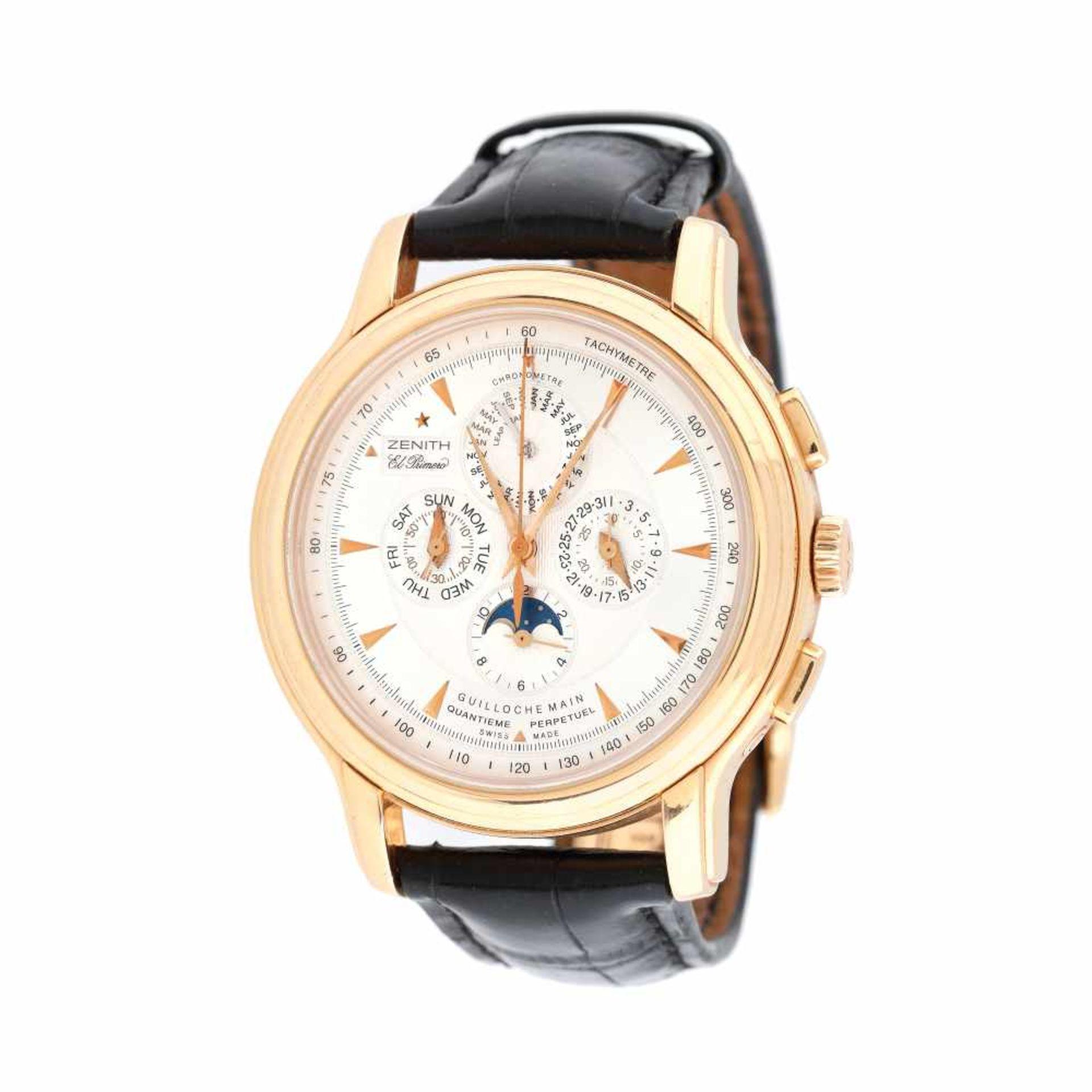 Zenith Chronomaster Millésime El Primero wristwatch, rose gold, men