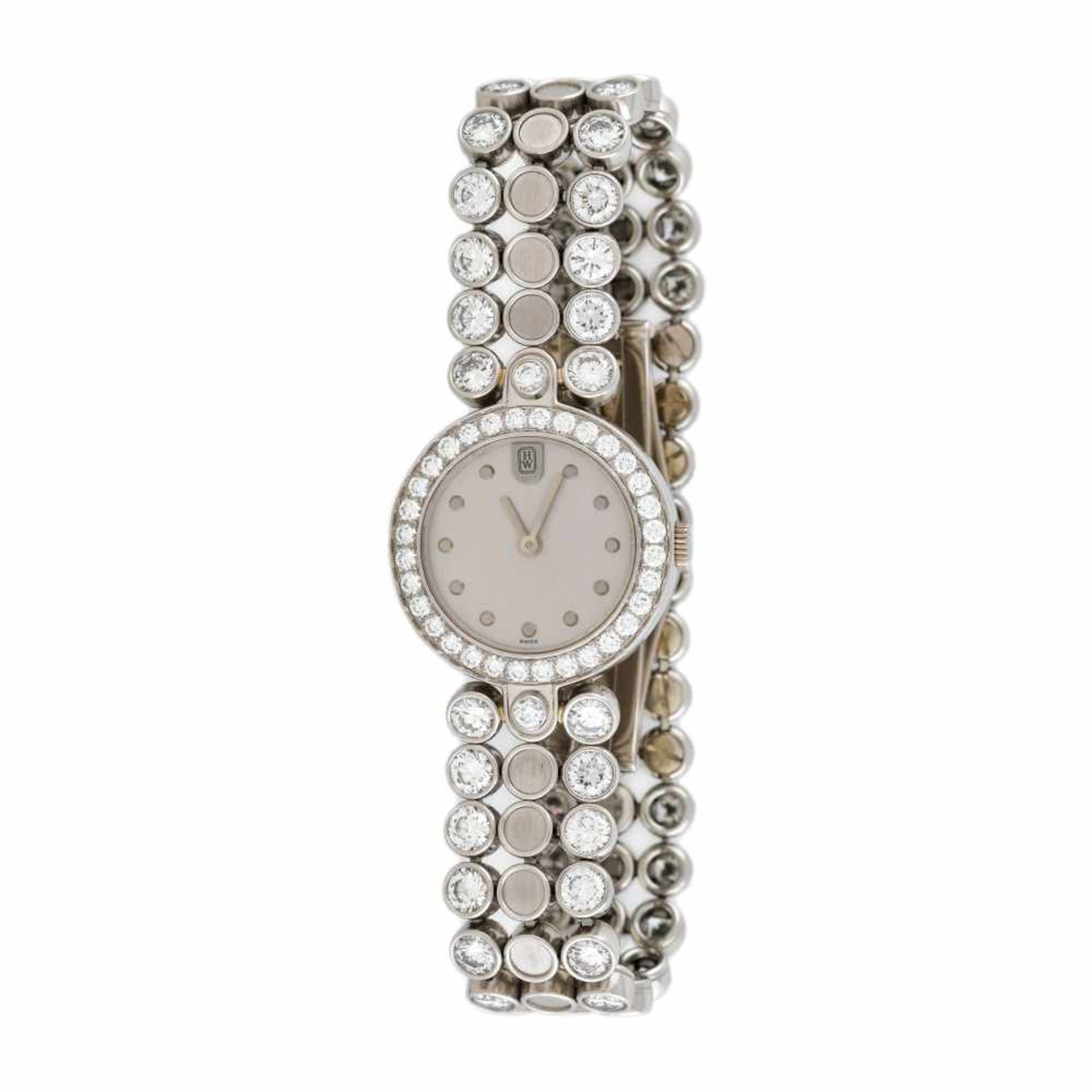 Harry Winston Premier Diamond Timepiece bracelet watch, platinum, women, decorated with diamonds, pr
