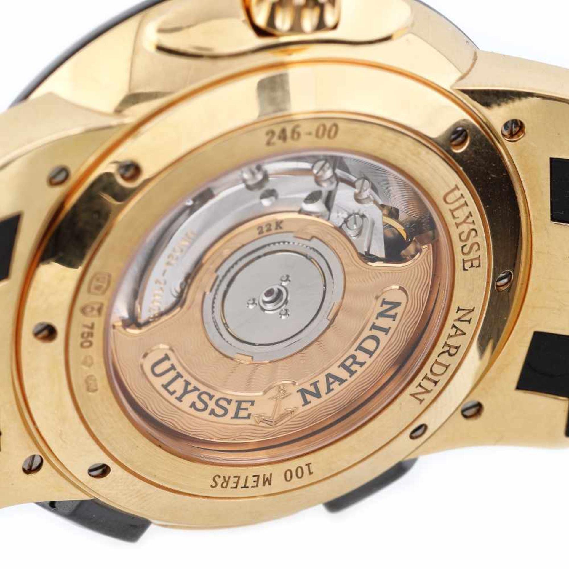 Ulysse Nardin Executive Dual Time wristwatch, rose gold, men, provenance documents - Bild 4 aus 4