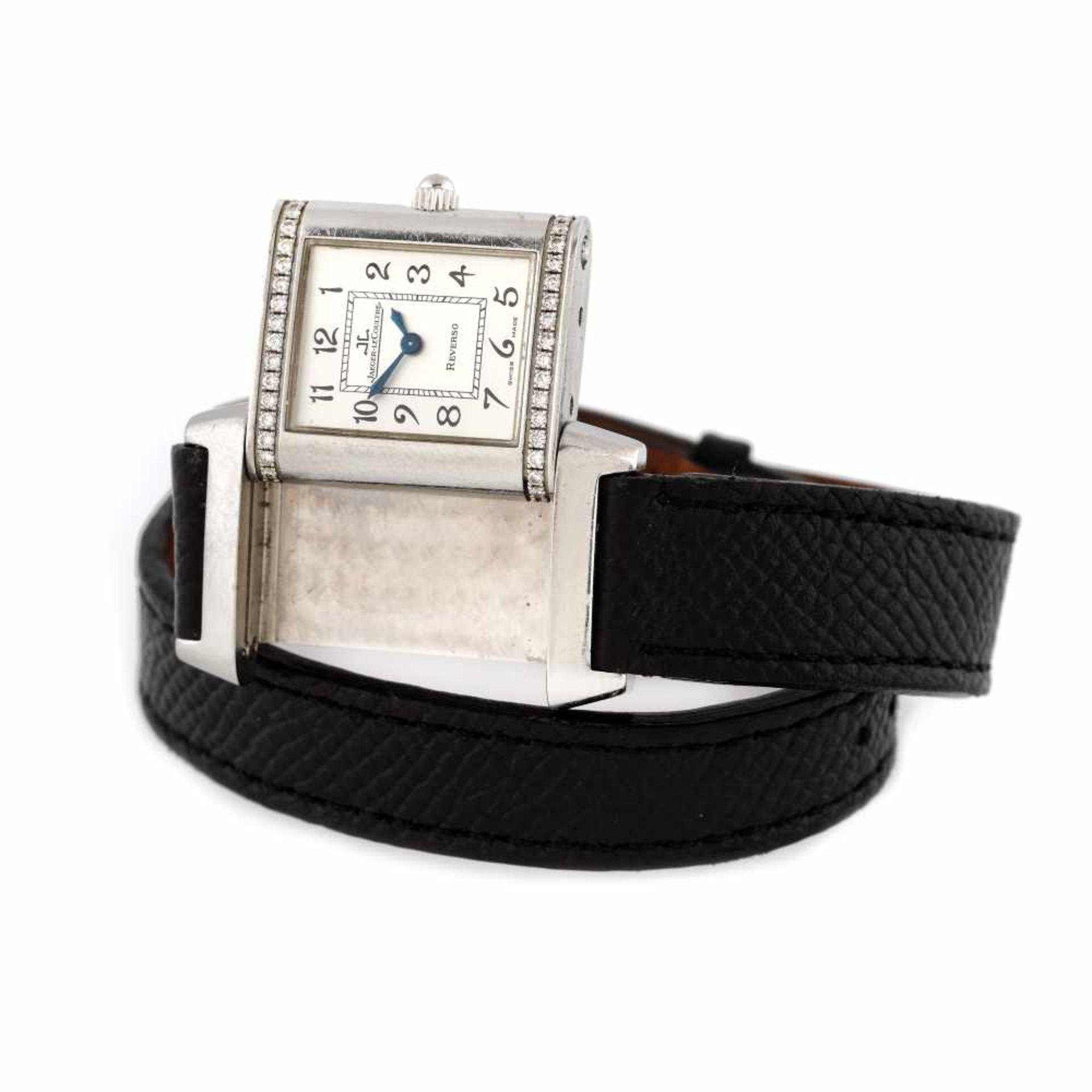 Jaeger-LeCoultre Reverso wristwatch, women, decorated with diamonds - Bild 2 aus 4