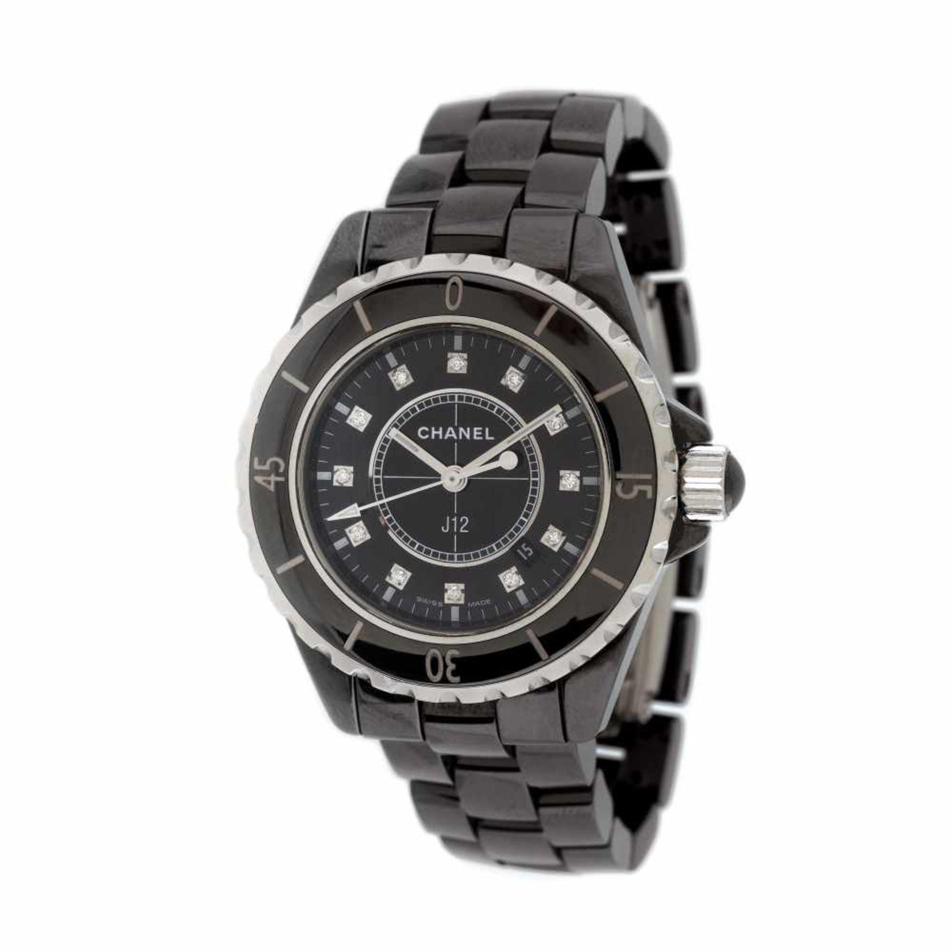 Chanel bracelet watch, women, decorated with diamonds