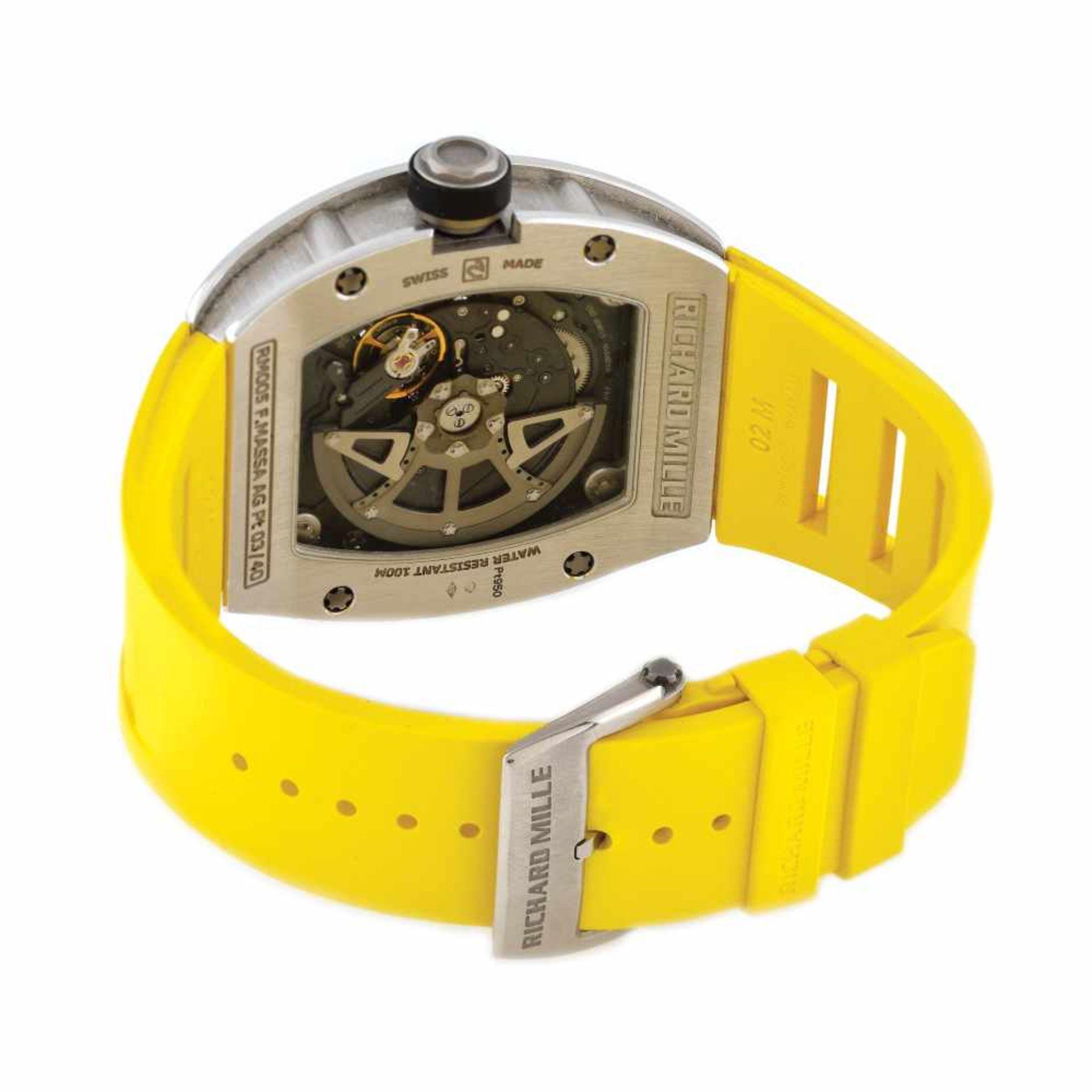 Richard Mille RM005 Felipe Massa AG TI wristwatch, platinum, men, limited edition 3/40 - Bild 3 aus 4