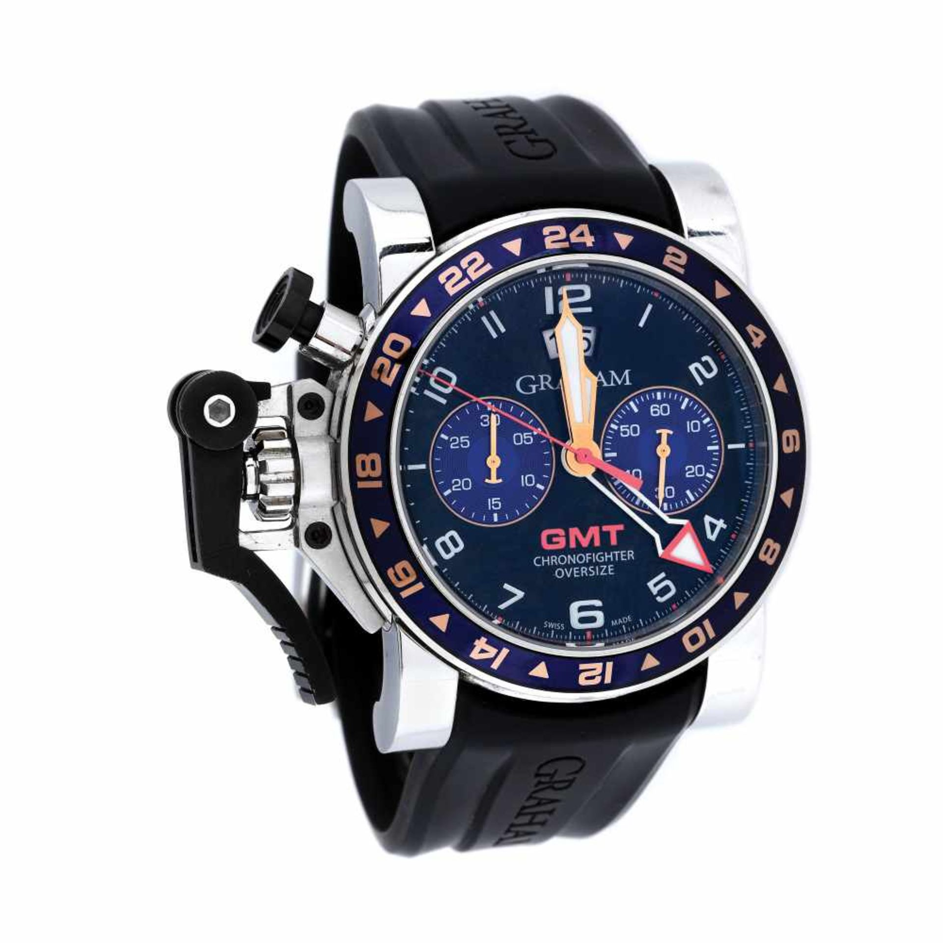 Graham Chronofighter wristwatch, men, provenance documents
