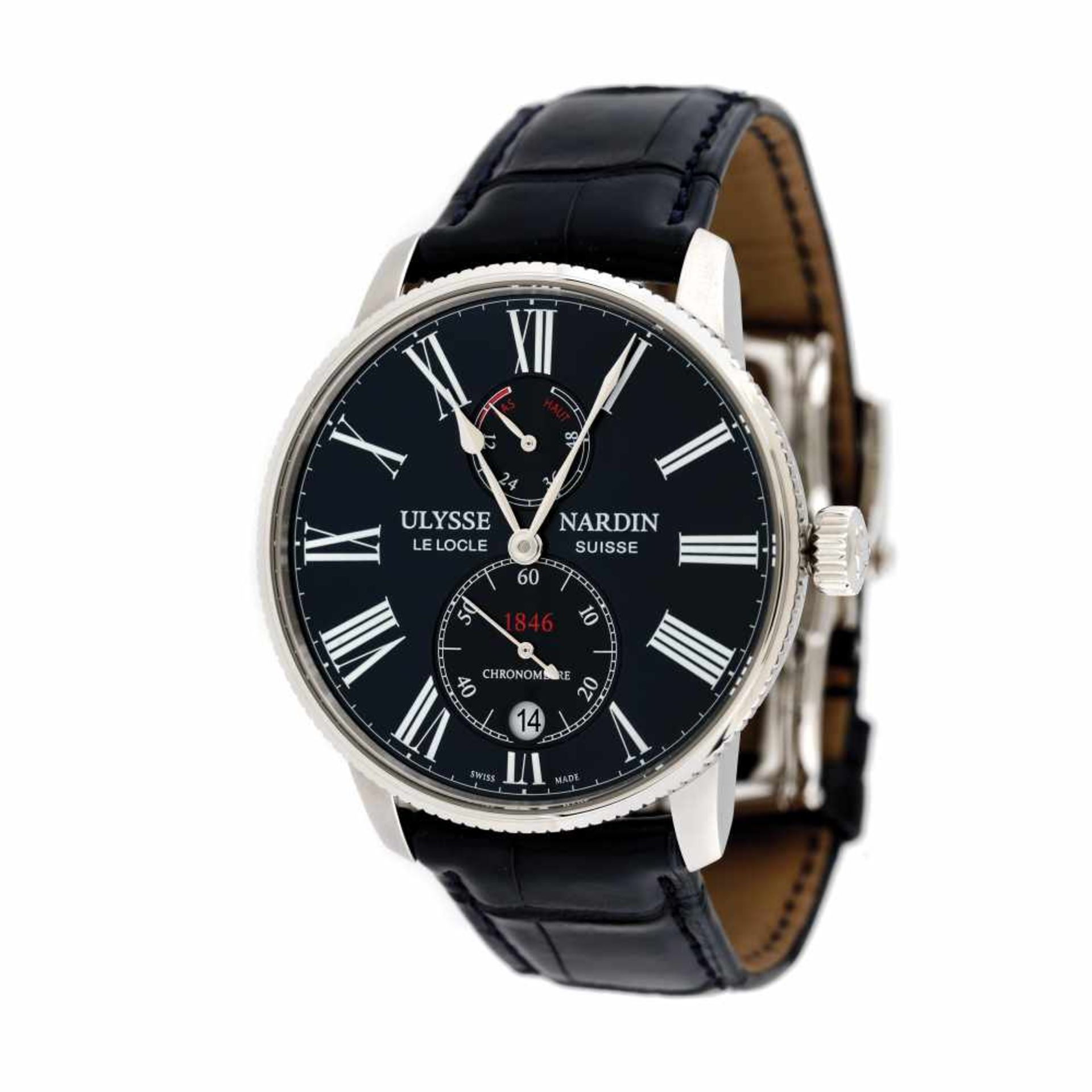 Ulysse Nardin Marine Torpilleur wristwatch, men, original box and authenticity documents