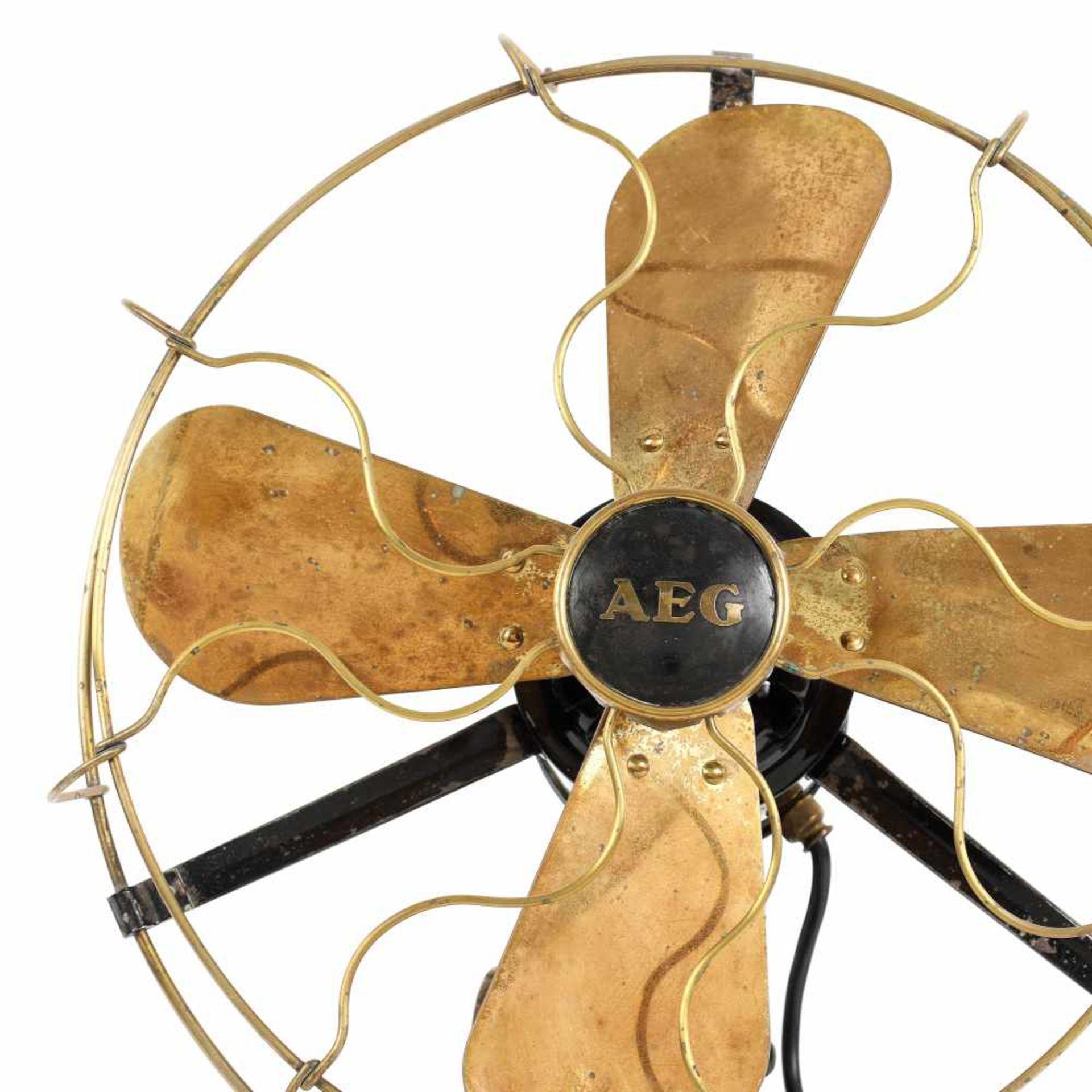 Vintage AEG fan in Art Deco style, designed by Peter Behrens, early 20th century - Bild 2 aus 3