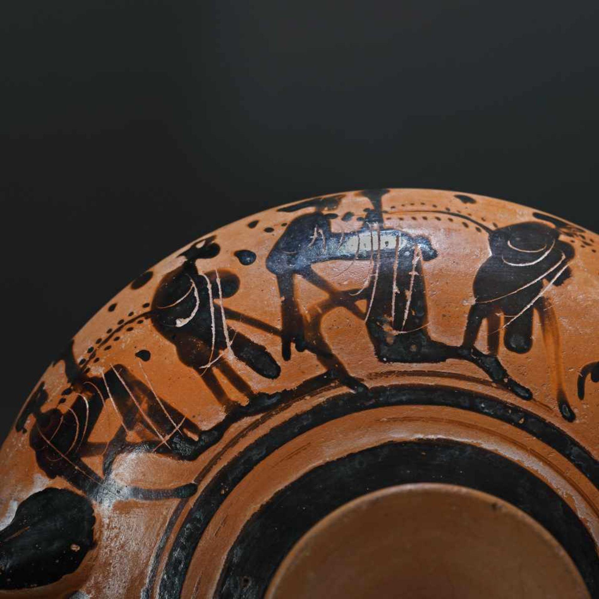 Kylix - ceramic wine jug, black-figure style, Classical Greece, approx. 2,400 years old, 4th century - Bild 3 aus 7