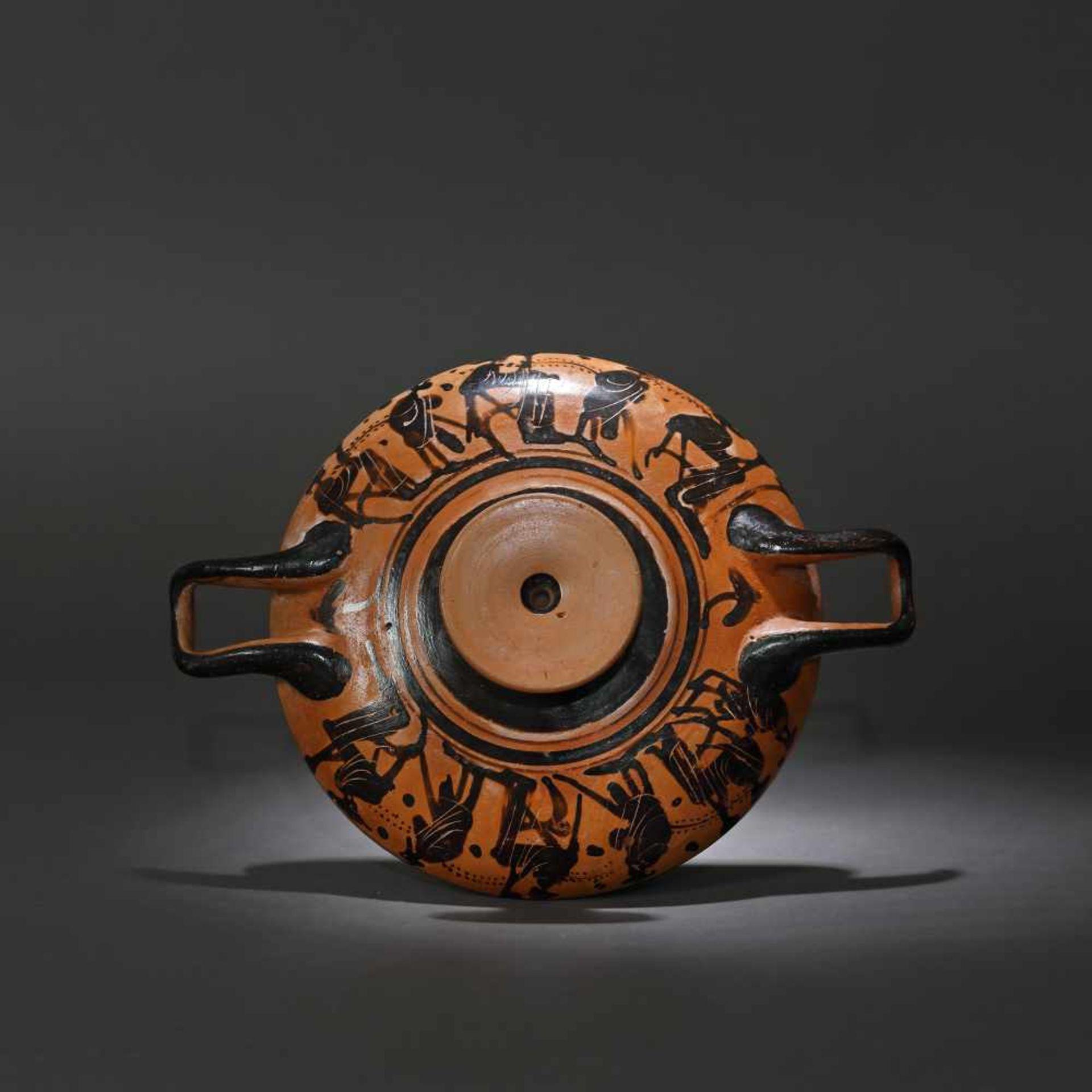 Kylix - ceramic wine jug, black-figure style, Classical Greece, approx. 2,400 years old, 4th century - Bild 2 aus 7